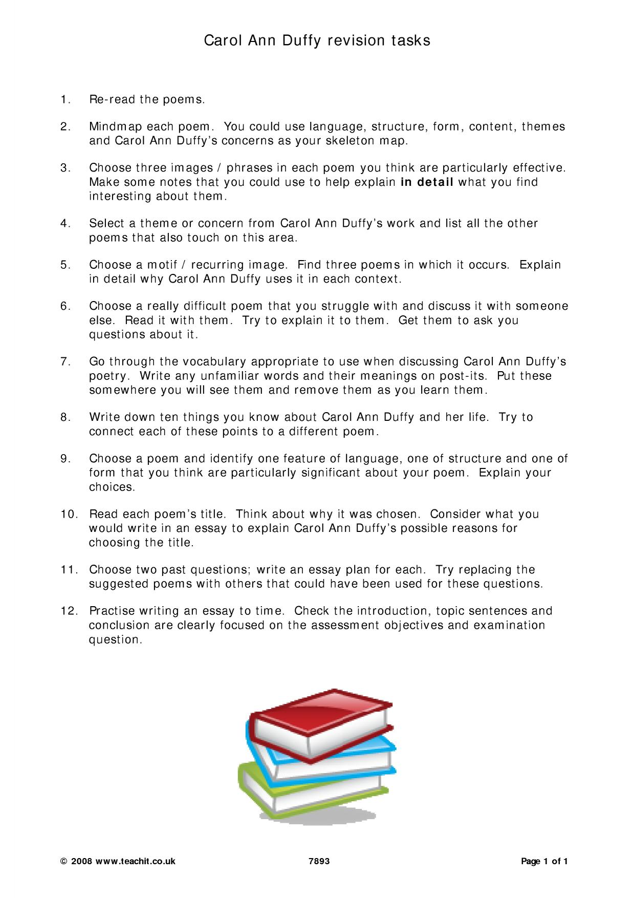 duffy carol ann ks3 resources all 1 preview ks5 poetry
