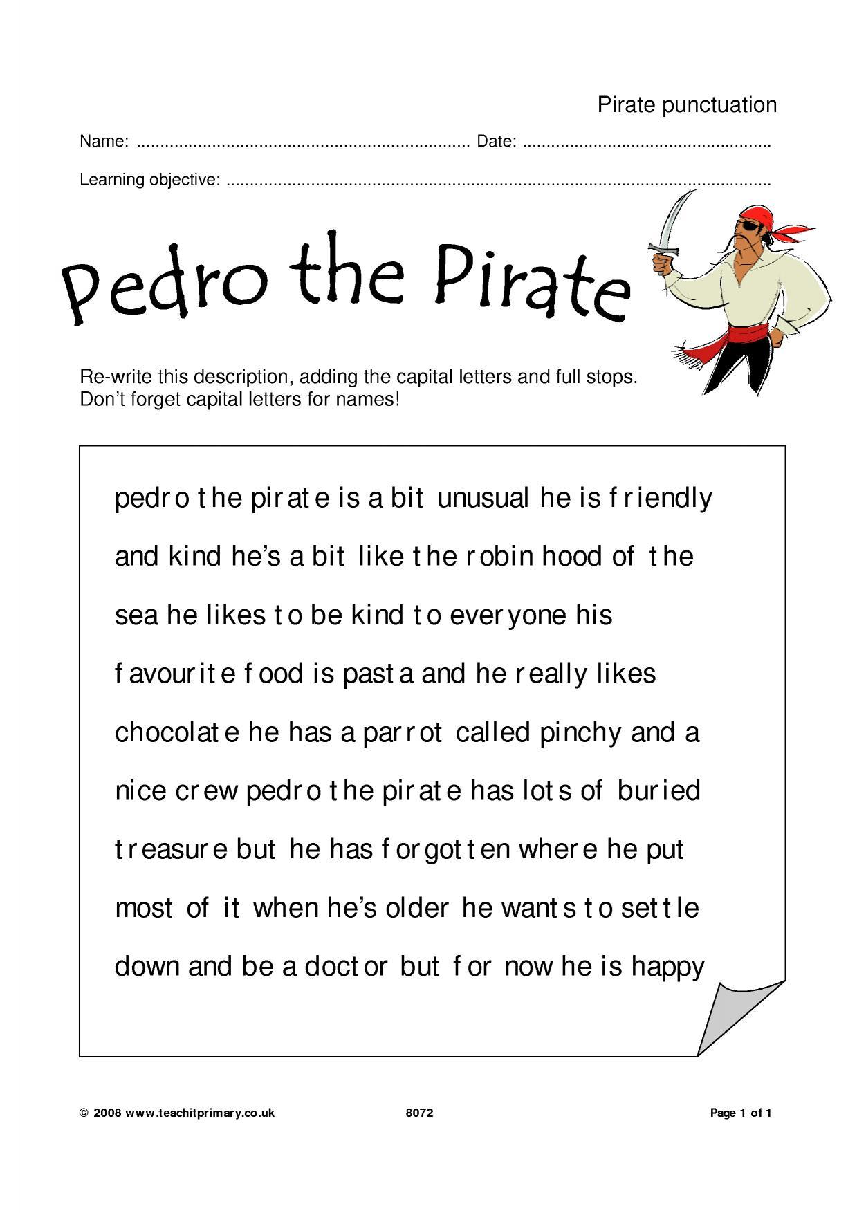 pirate punctuation simple sentences home page. Black Bedroom Furniture Sets. Home Design Ideas