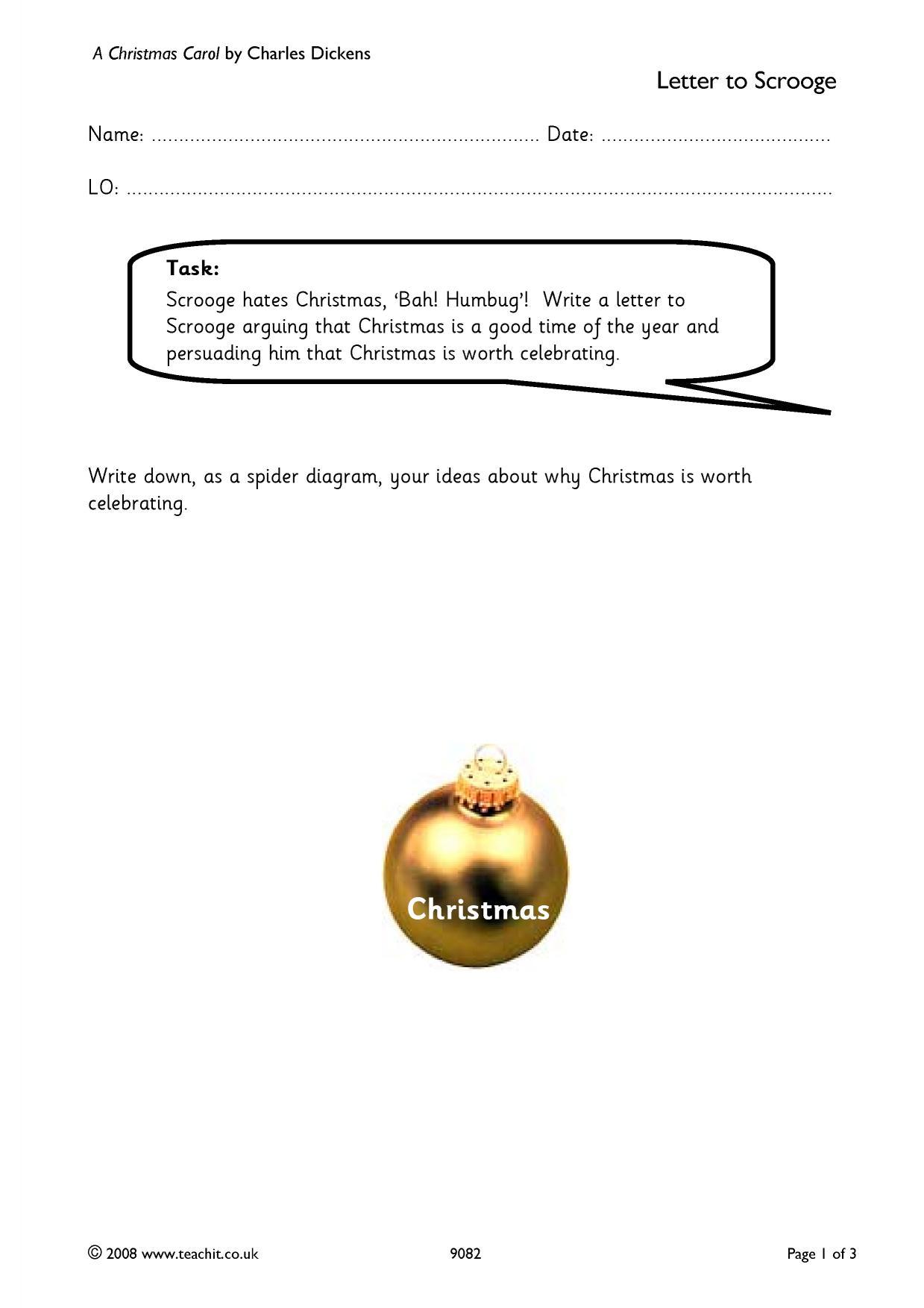Homework help with a christmas carol