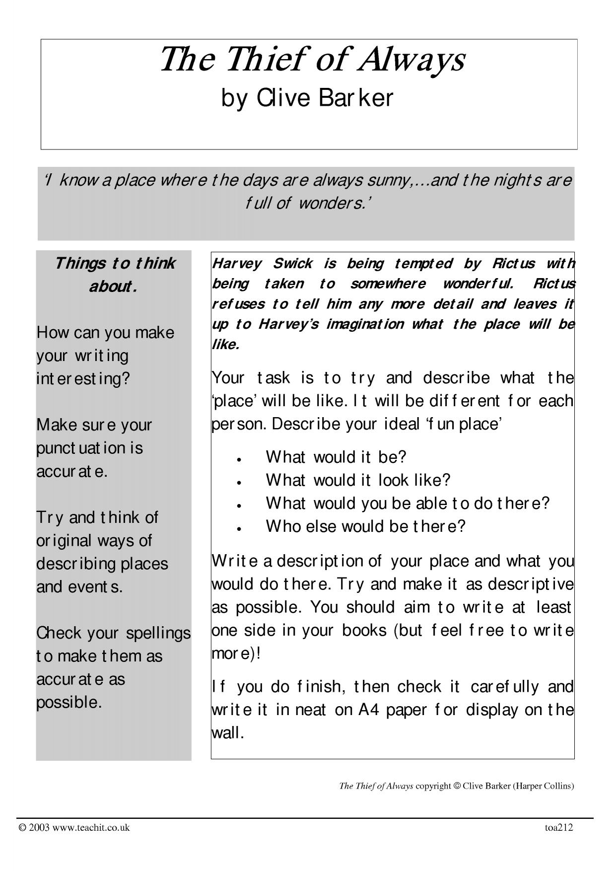 how to write a descriptive essay about a place how do you write a  imaginative writing ks writing key stage resources 0 preview ks3 writing descriptive
