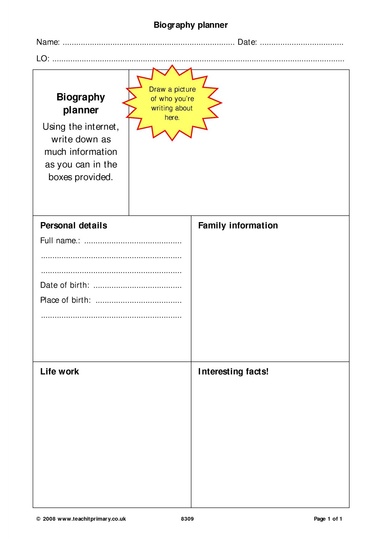 Biography and autobiography (KS2 resources)