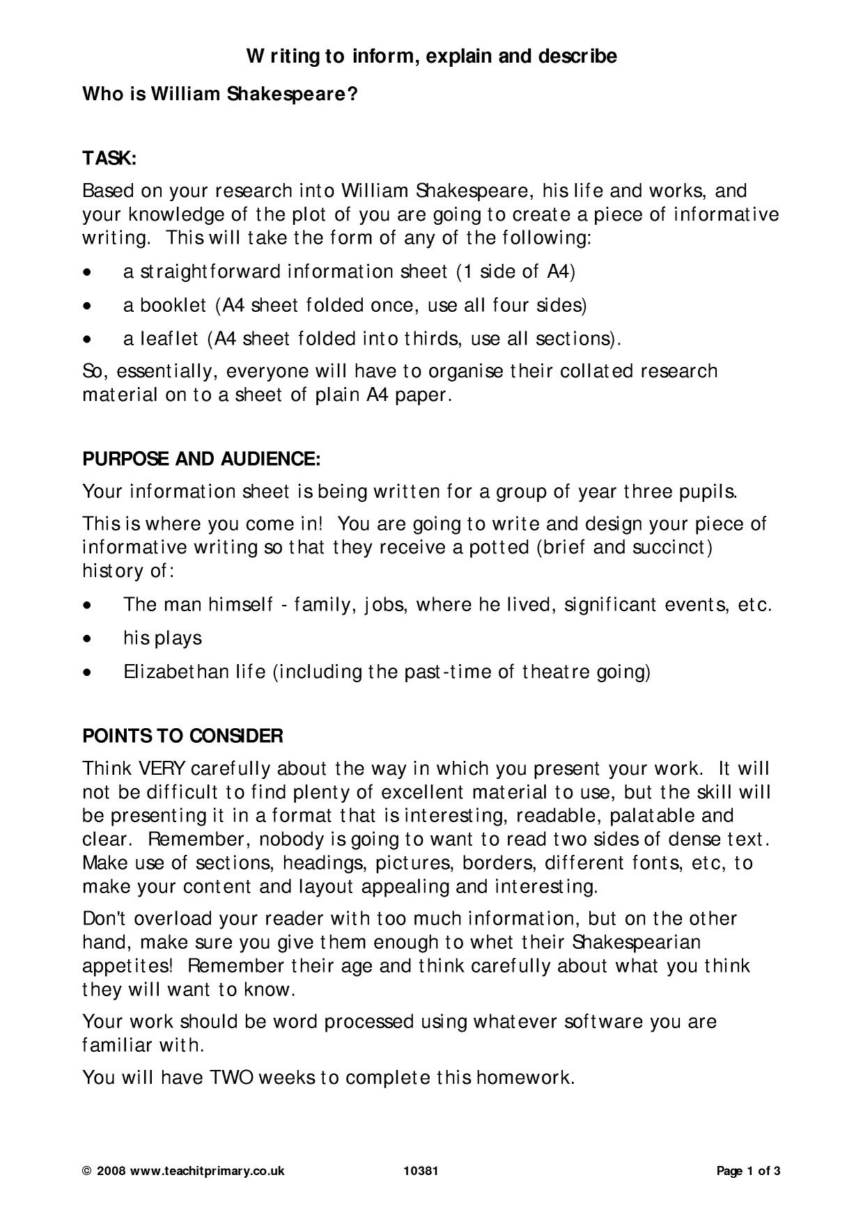 english biography essay Sample autobiography topics: high school english-language films essay join millions of other students and start your research become a studymode member.