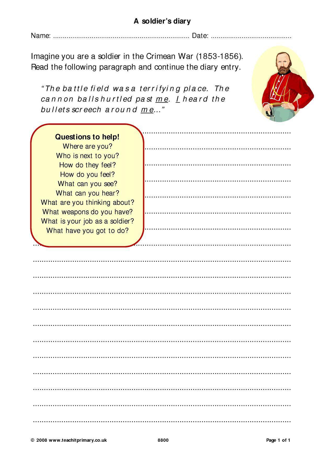 Eyfs Ks1 Ks2 Diaries Teachit Primary