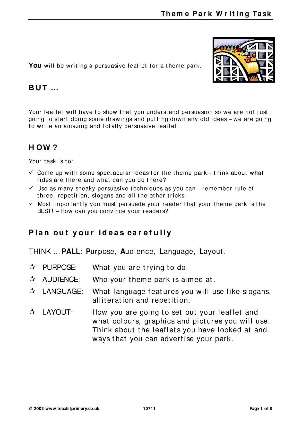 EYFS KS1 KS2 Persuasive writing – Persuasive Techniques Worksheet