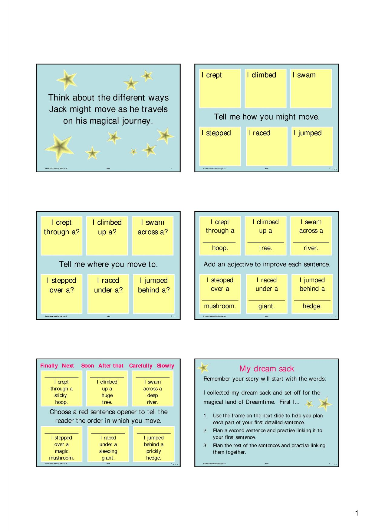 Simple sentences - search results - Teachit Primary