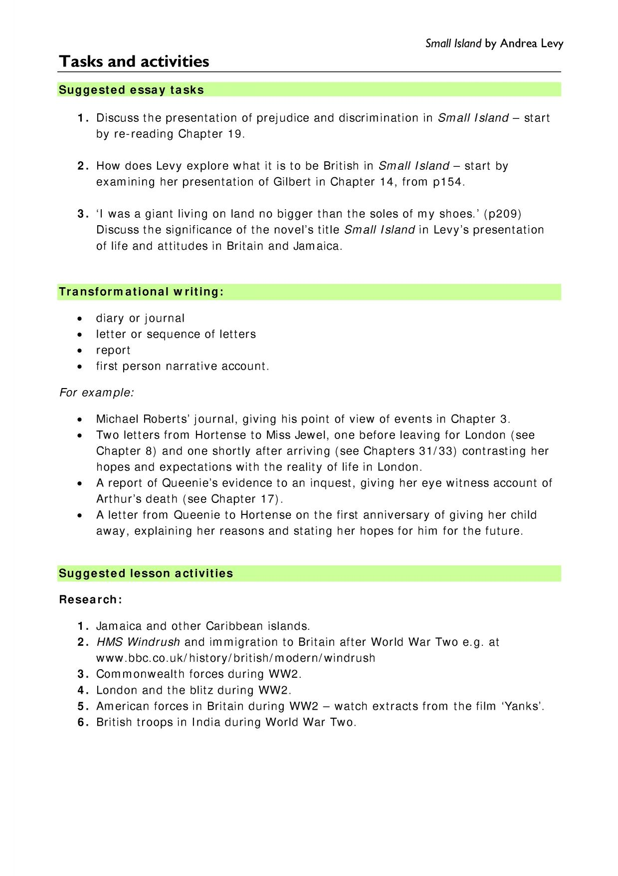 ww essay examples of informative essays essay describe yourself a  small island by andrea levy prose key stage english 1 preview florida essay pixels