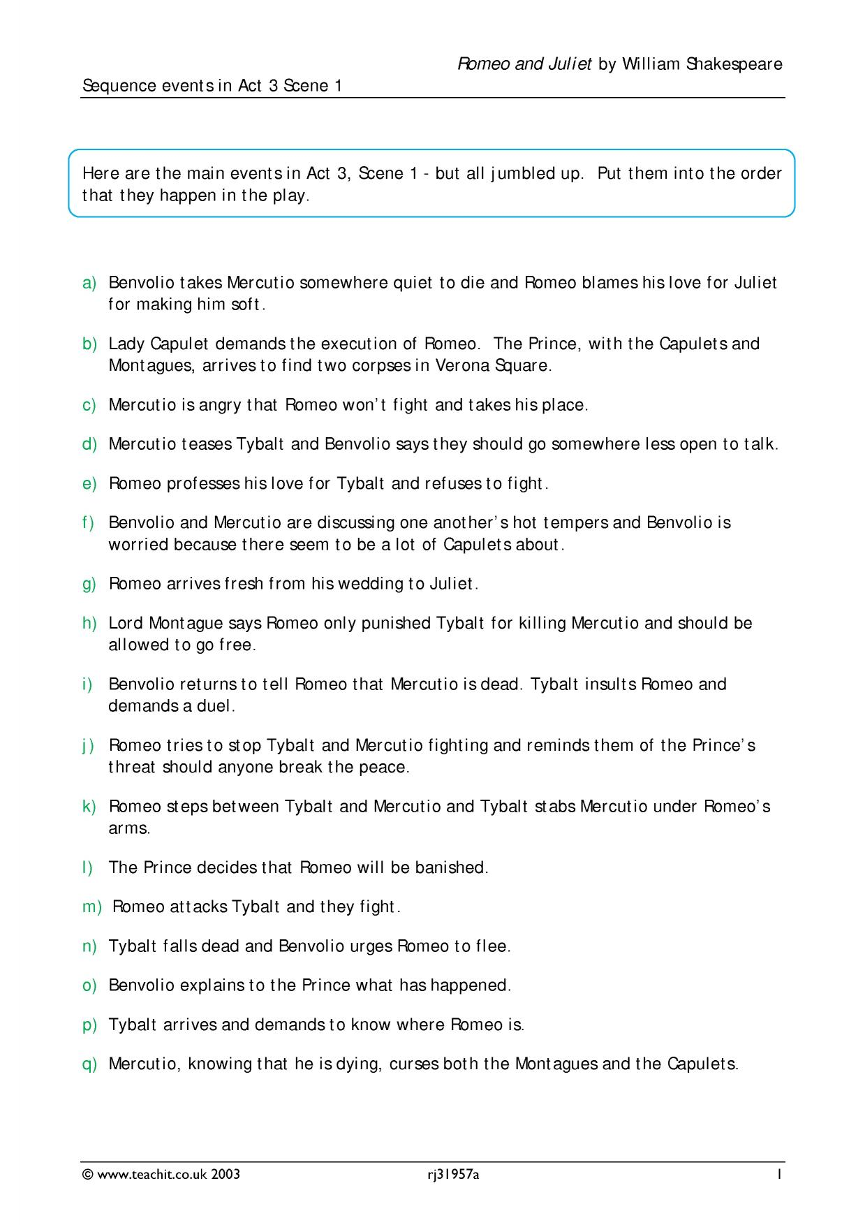 act 3 scene 1 romeo and juliet essay question 3 essay question: explore how shakespeare presents the treatment of women in act 3, scene 1: and exiles romeo act 3, scene 2: juliet longs for the coming of night and romeo the nurse appears.
