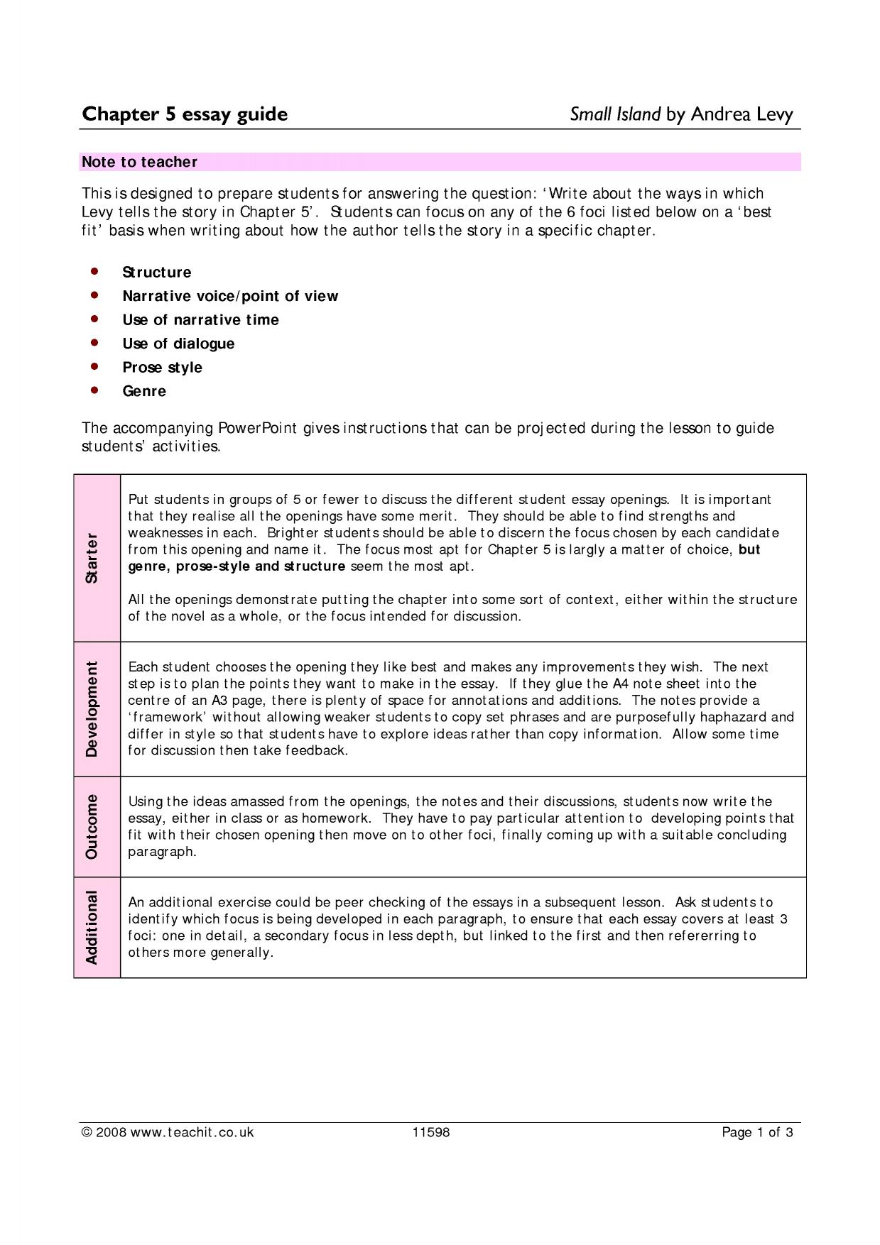 Expository essay diagram