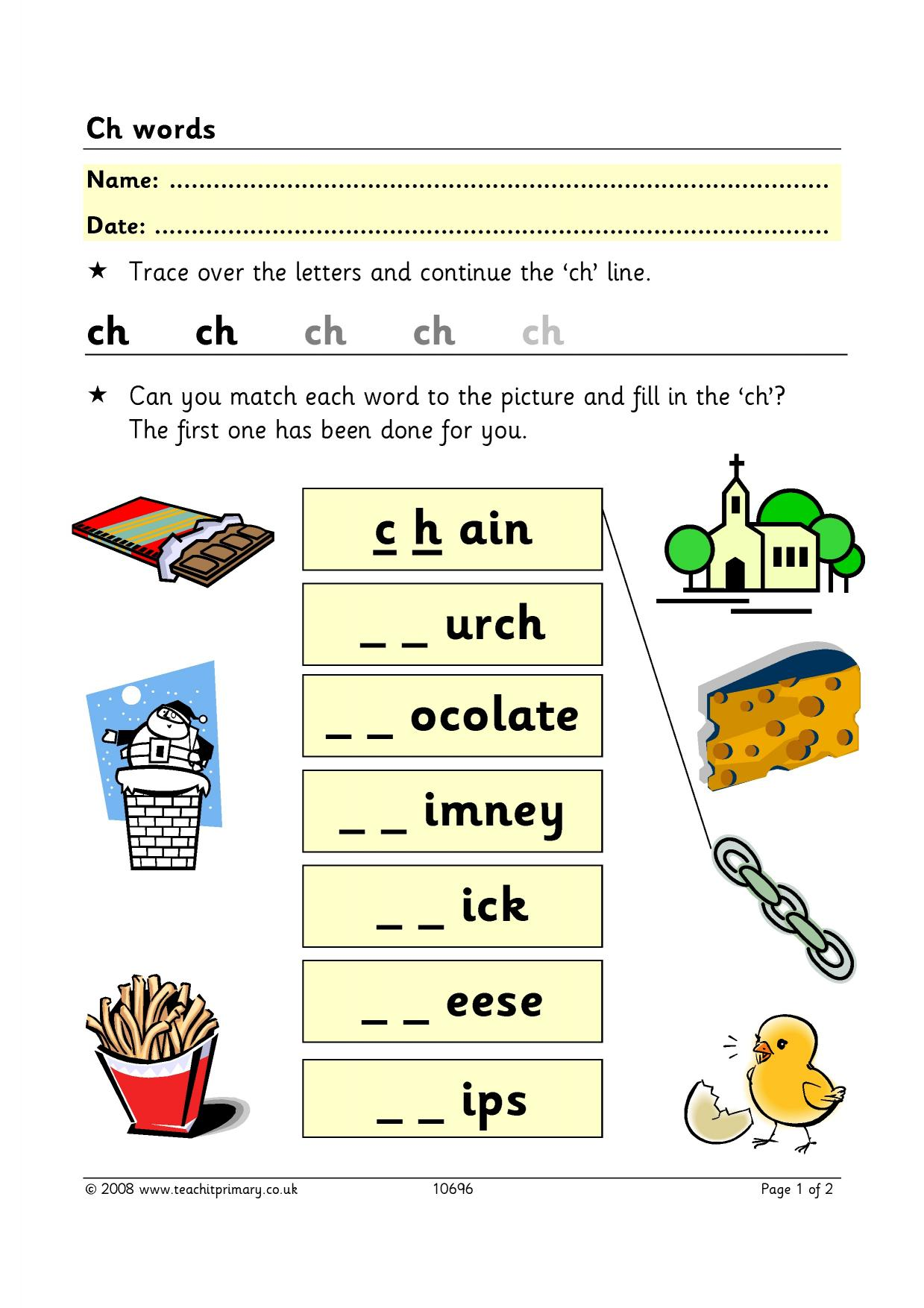 words beginning with ch and sh