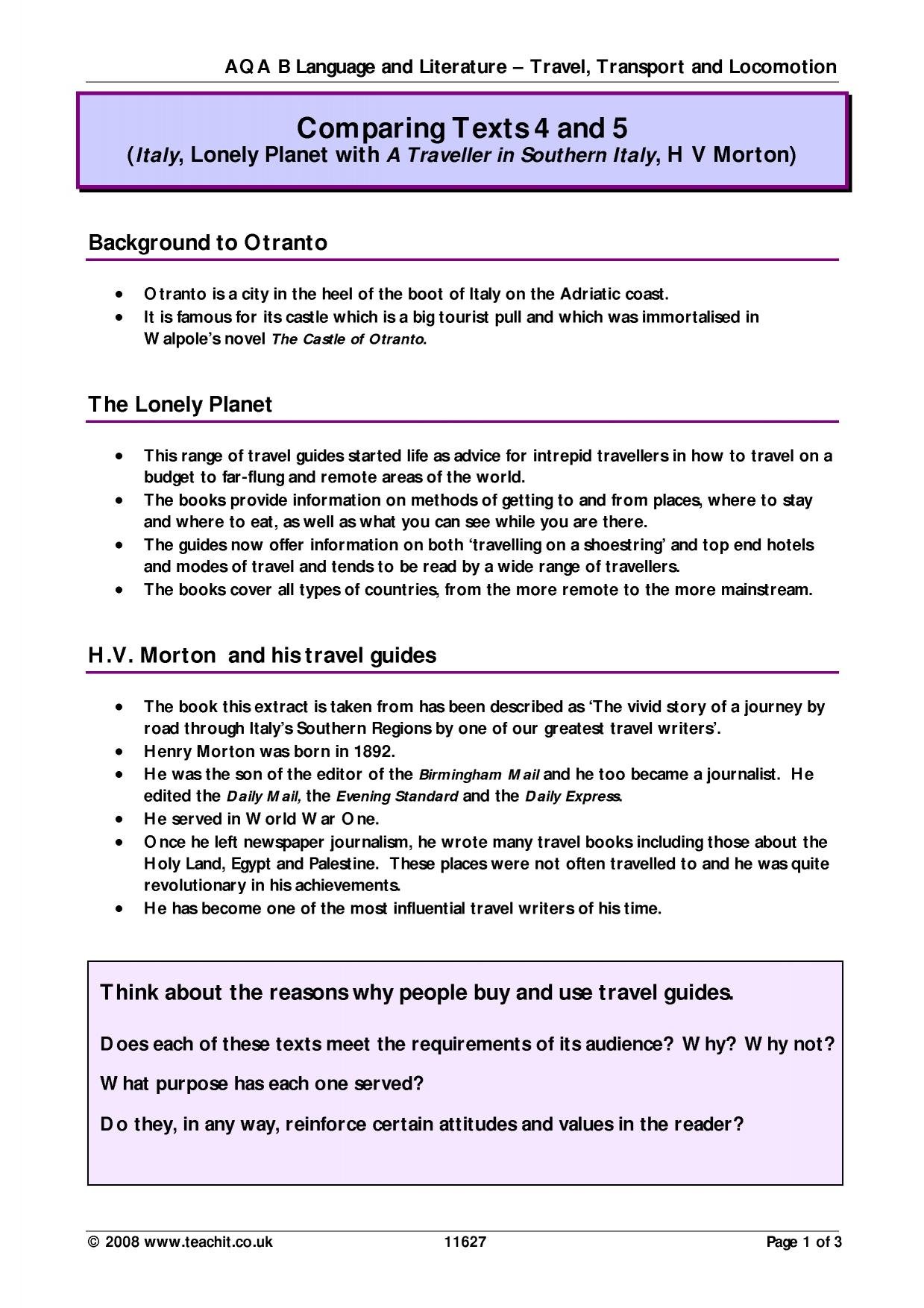 aqa food anthology compare two texts Aqa anthology of love poetry through the ages post- 1900 the paper is   clips last no longer than 5 minutes long enough to set up food for thought, but   across time, requires students to compare two texts, one of which must be written .