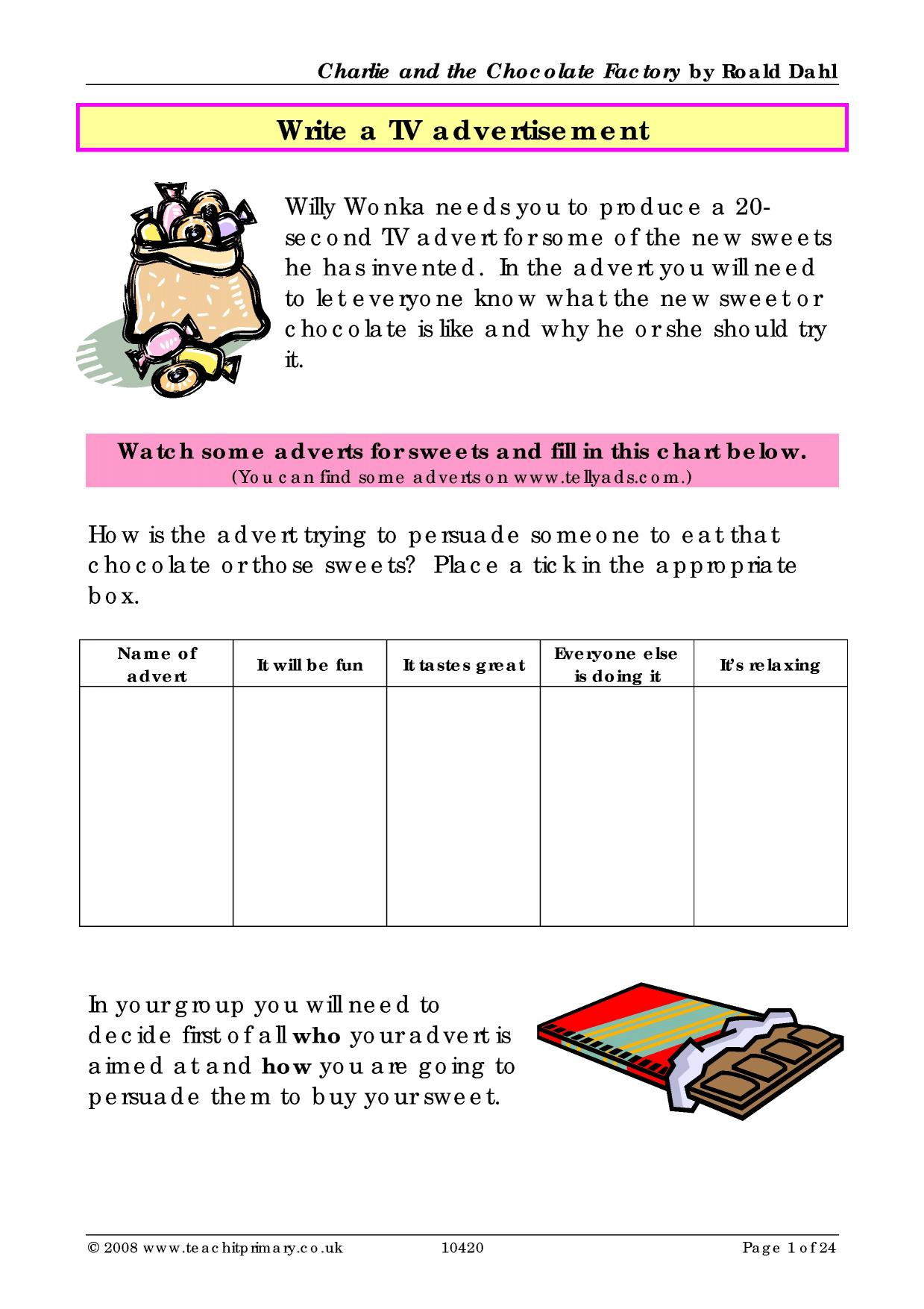 Charlie and the Chocolate Factory - a bumper resource pack ...