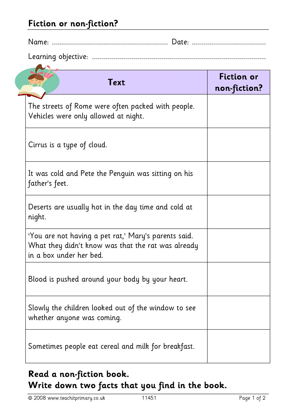 What are fiction and non-fiction?