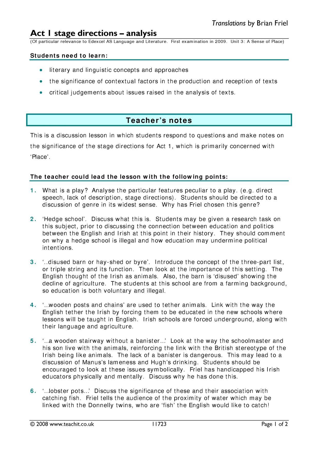 translations brian friel review