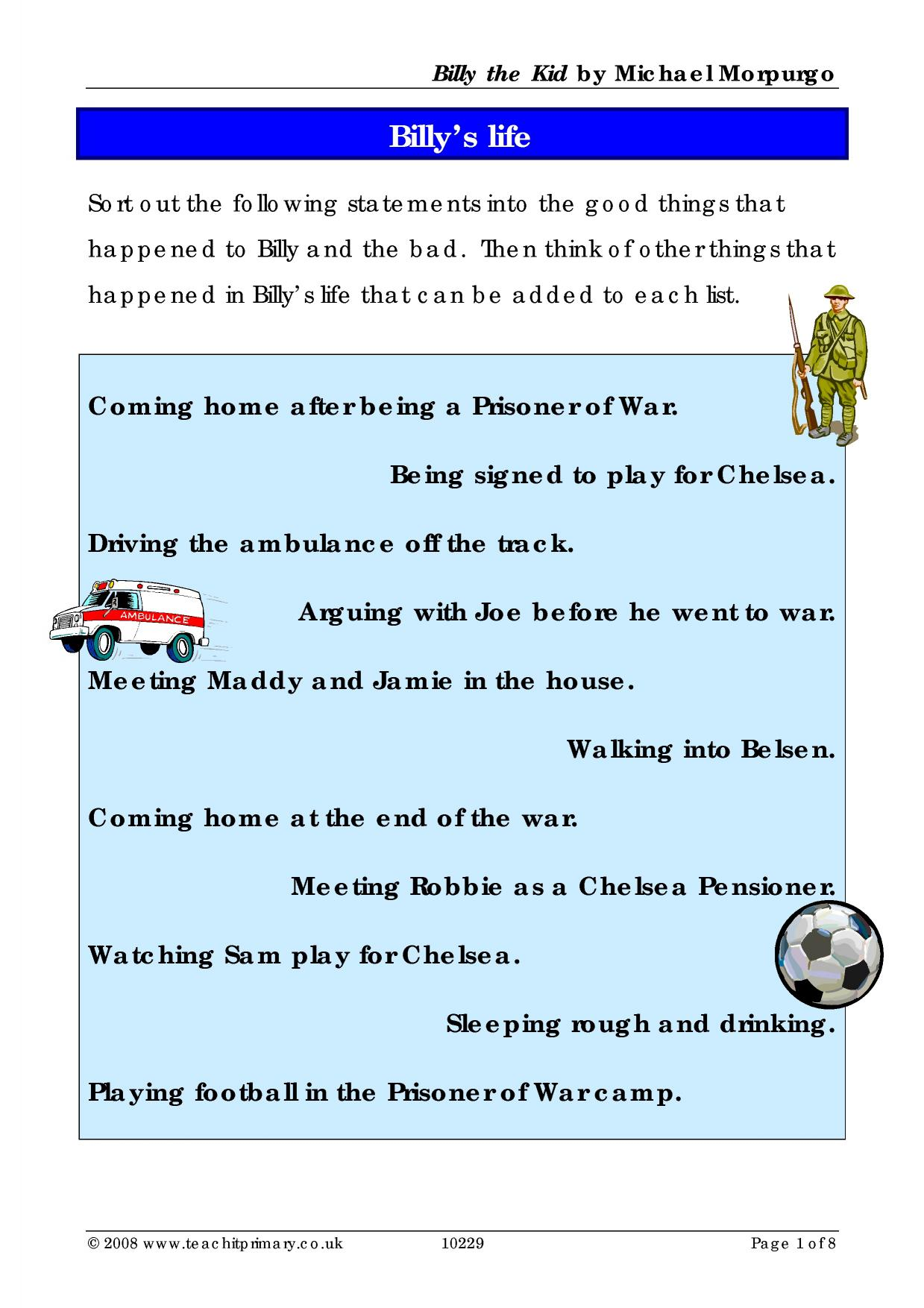 Ready-made sequencing activities - Teachit Primary