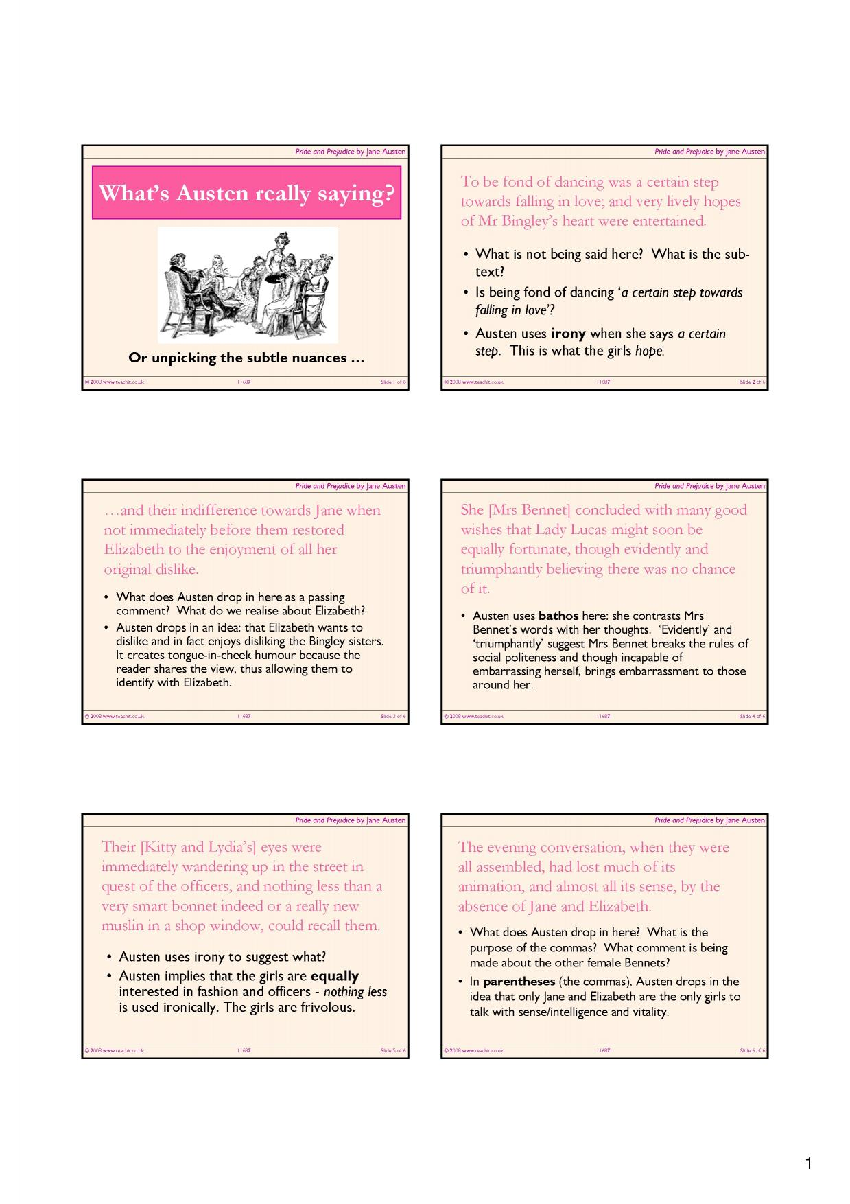 pride and prejudice by jane austen ks3 resources all 2 preview