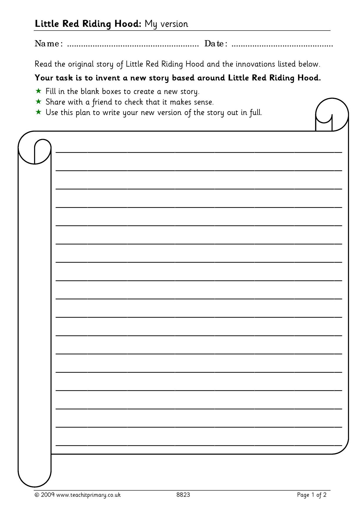 how to plan a story ks2