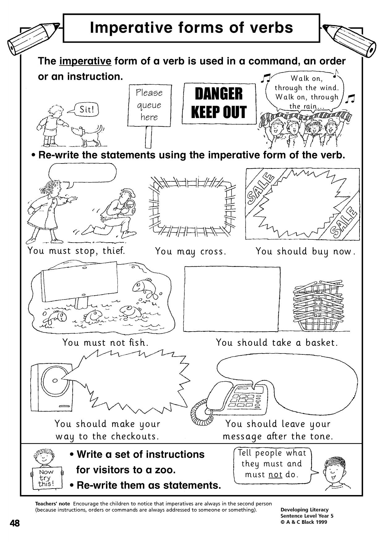 worksheet Verbs Ks1 Worksheet eyfs ks1 ks2 verb tenses teachit primary 2 preview