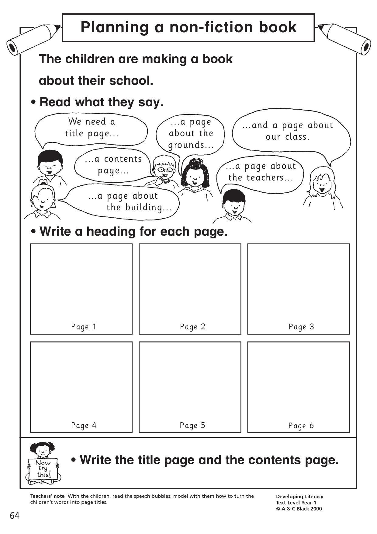 Writing Primary Resources
