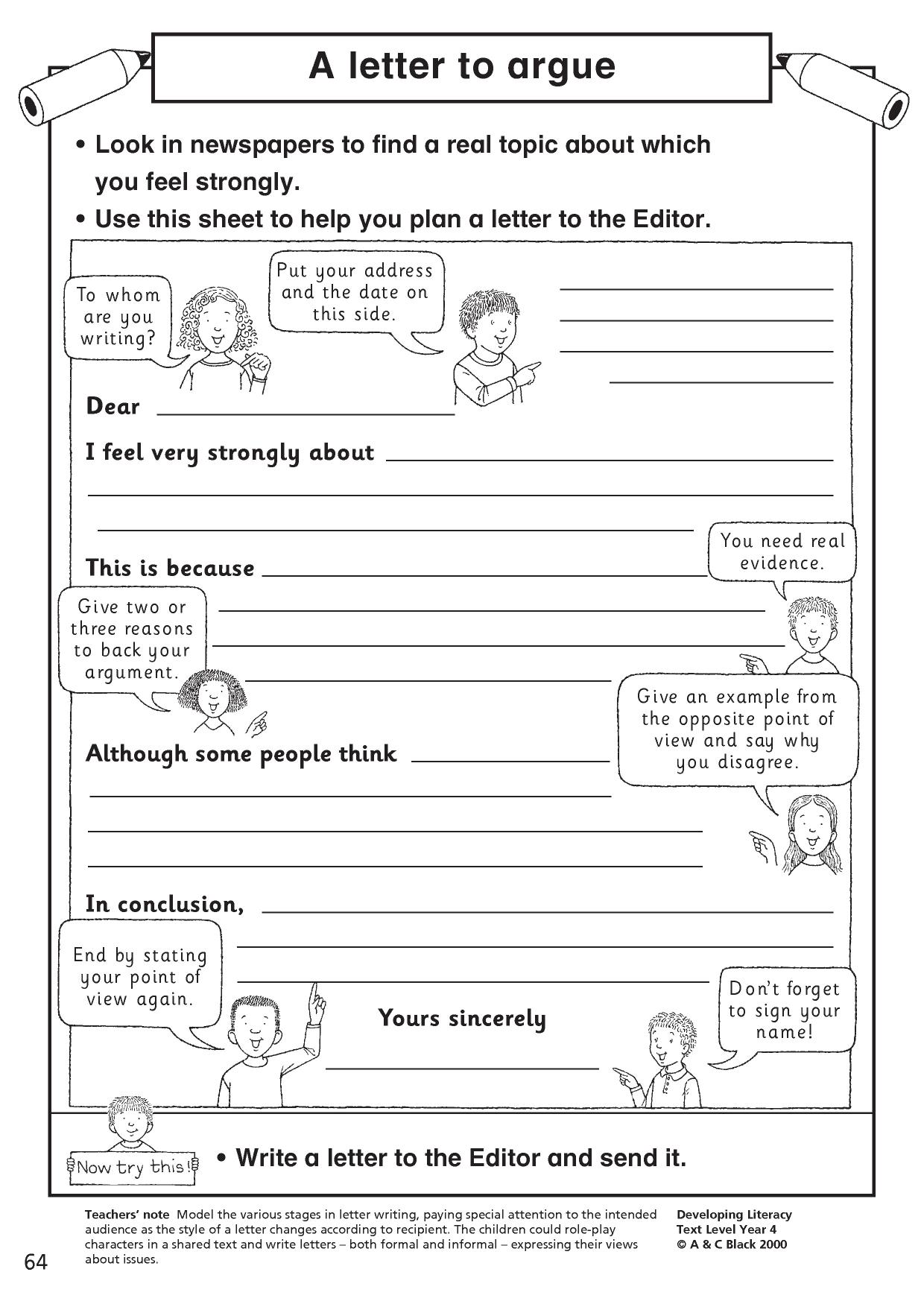Letter writing (KS2 resources)