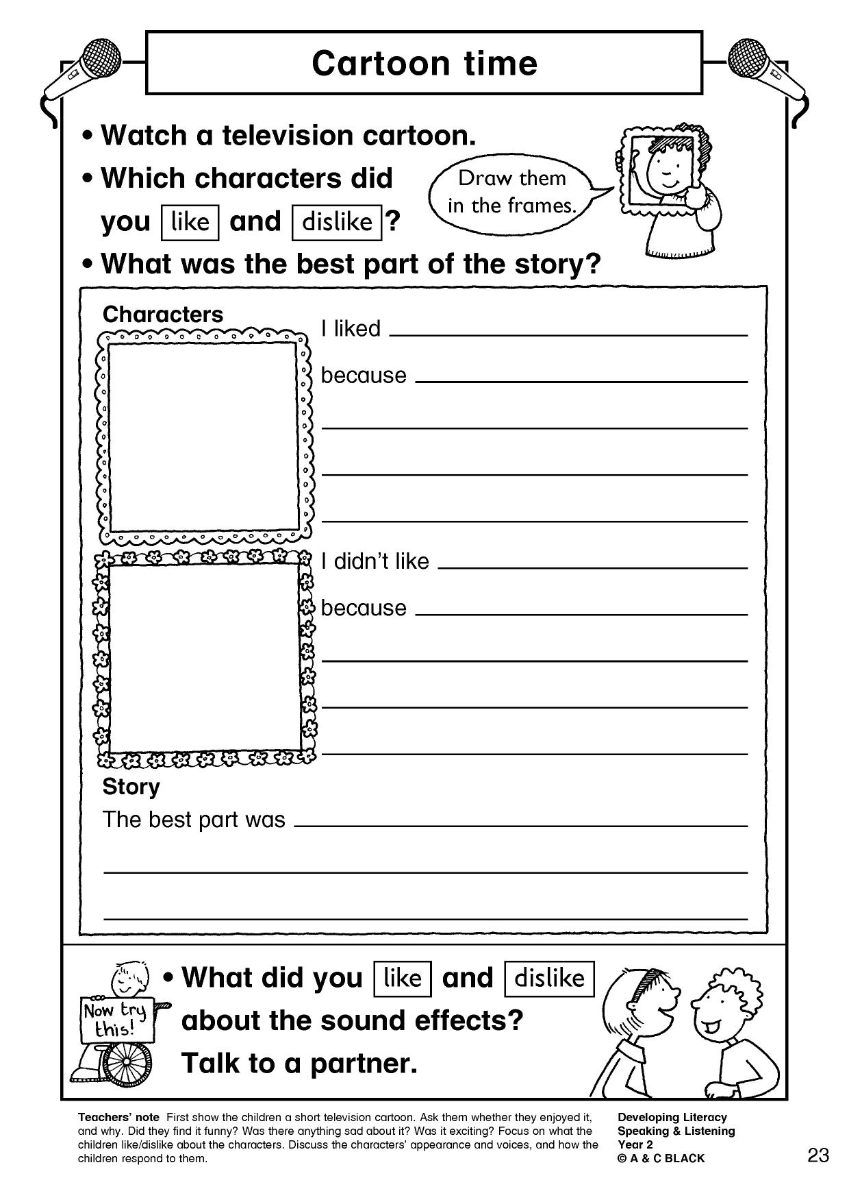 Worksheets Character Profile Worksheet ks2 character description teachit primary 0 preview