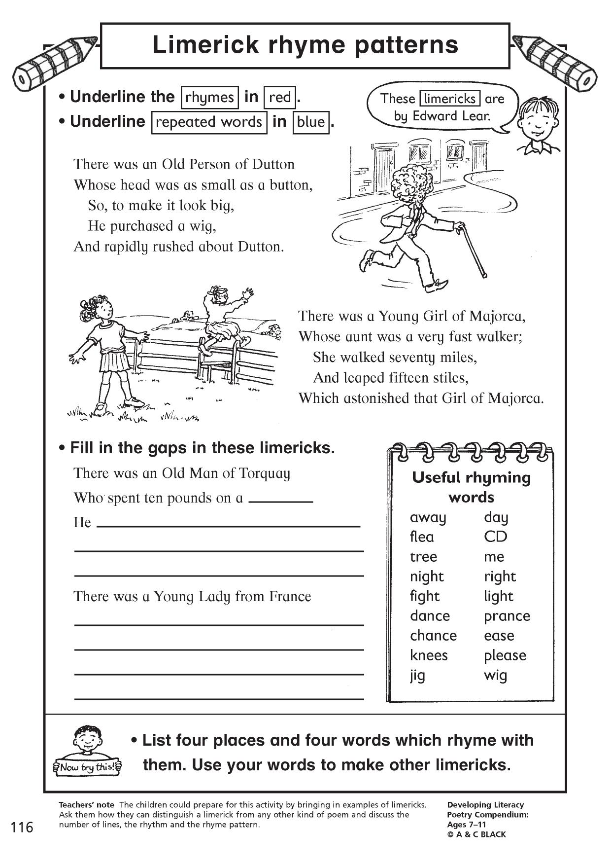 Worksheets Example Of Rhyming Words In Sentence englishlinx com alliteration worksheets grades 6 12 worksheets