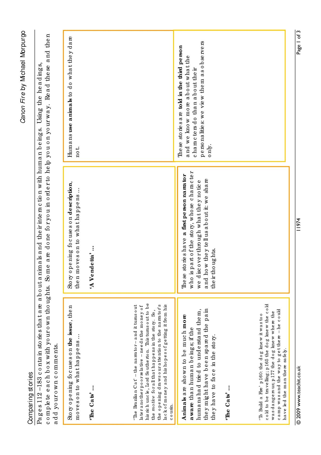 Comparative essay keywords