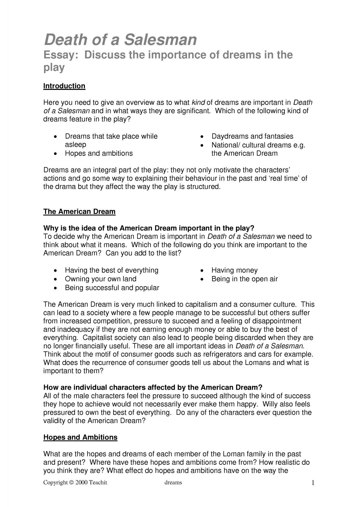 the american dream essays death of a sman ap essay american dream death of a sman ap essay