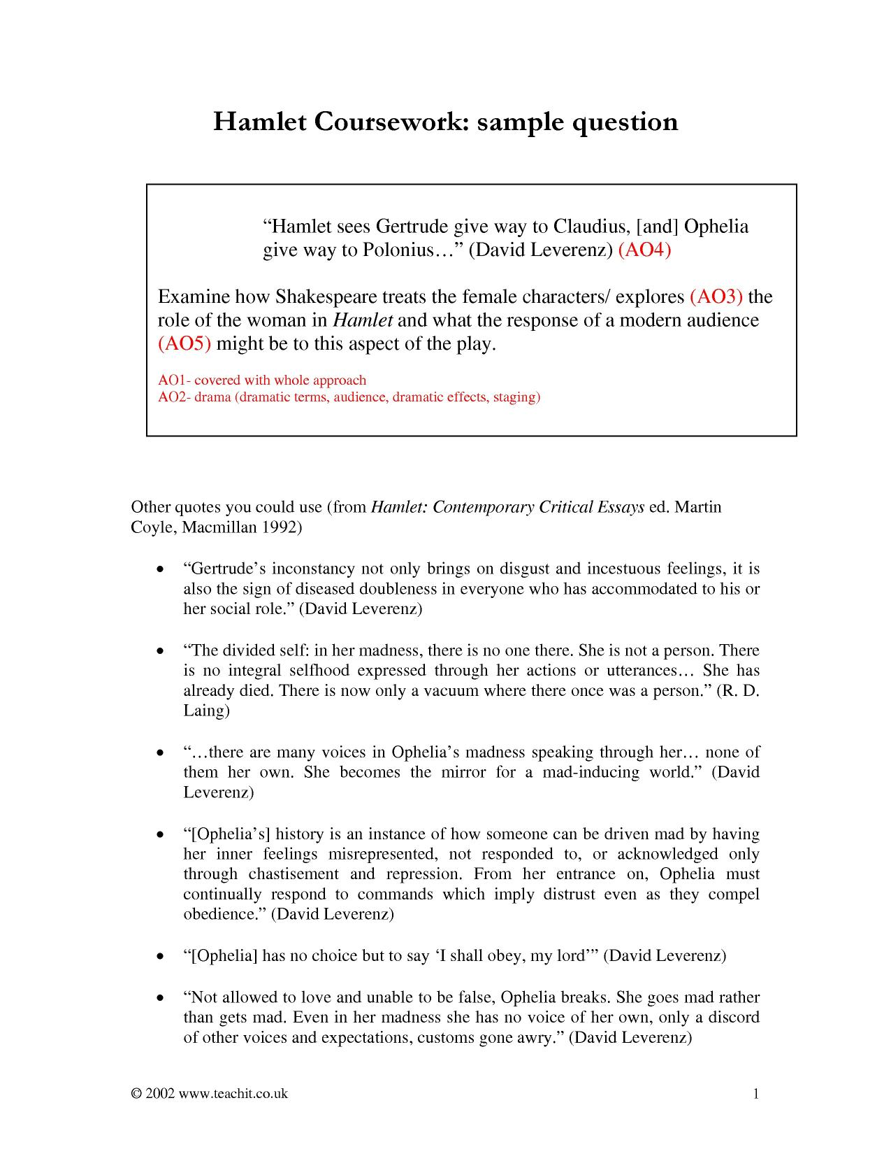 a psycho analysis of william shakespeares hamlet Hamlet shows shakespeare intent on sabotaging the conventions of revenge  tragedy  article by: kiernan ryan themes: power, politics and religion,  tragedies  convulsed with simulated sorrow for an imaginary character, who   the prince in his influential study shakespearean tragedy as afflicted by.
