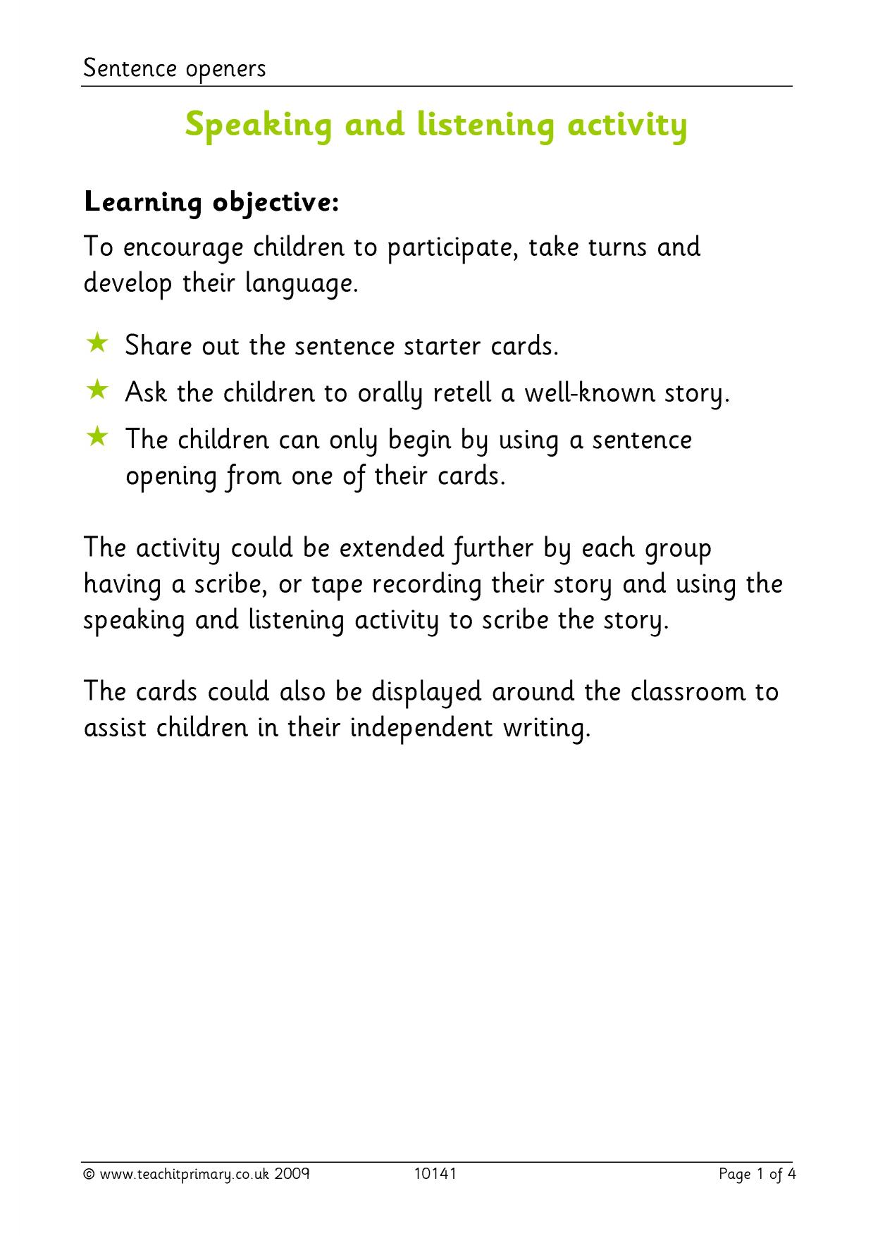 KS1 | Drama and role play | Teachit Primary