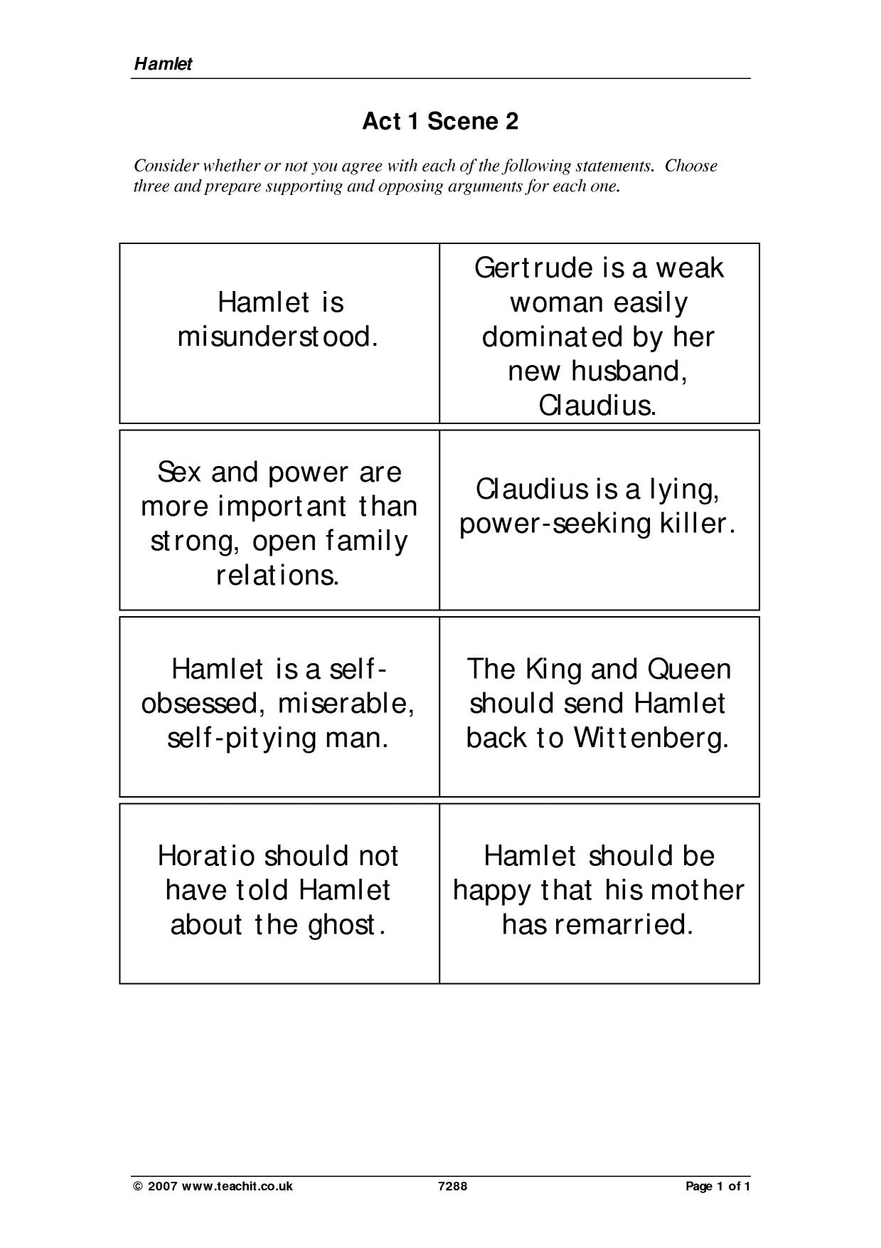 hamlet act iii notes essay Online study guide for hamlet: as & a2  act iii scene 4 notably ernst jones's notorious essay 'hamlet and oedipus'.
