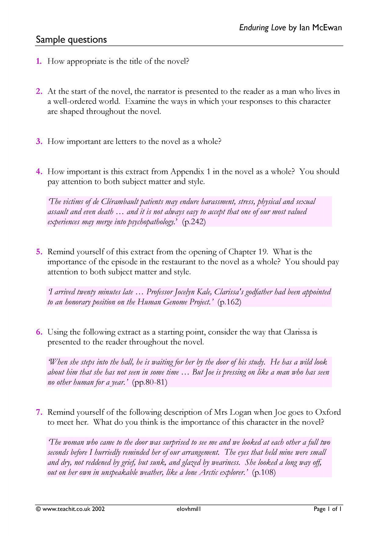 Rebecca essay questions
