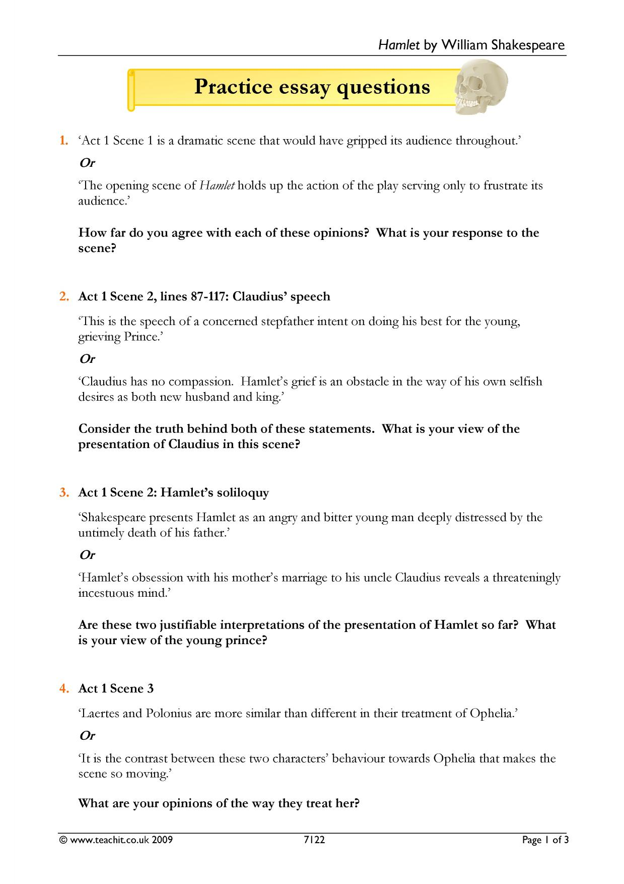 hamlet soliloquy analysis essay example Hamlet analysispdf - download as pdf file (pdf), text file (txt) or read online.