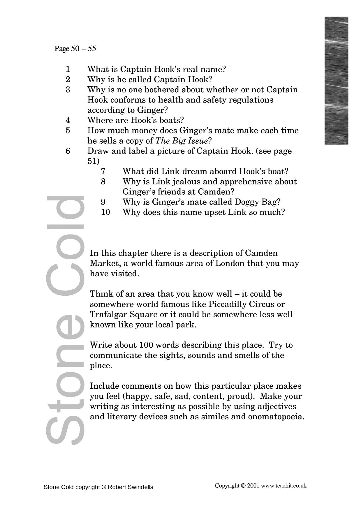 how does robert swindells build sympath Narrative and group  copyright 2003 group reading at key stage 3 stone cold lesson 1 robert swindells group card sc1 objectives: r4 versatile reading r12 .