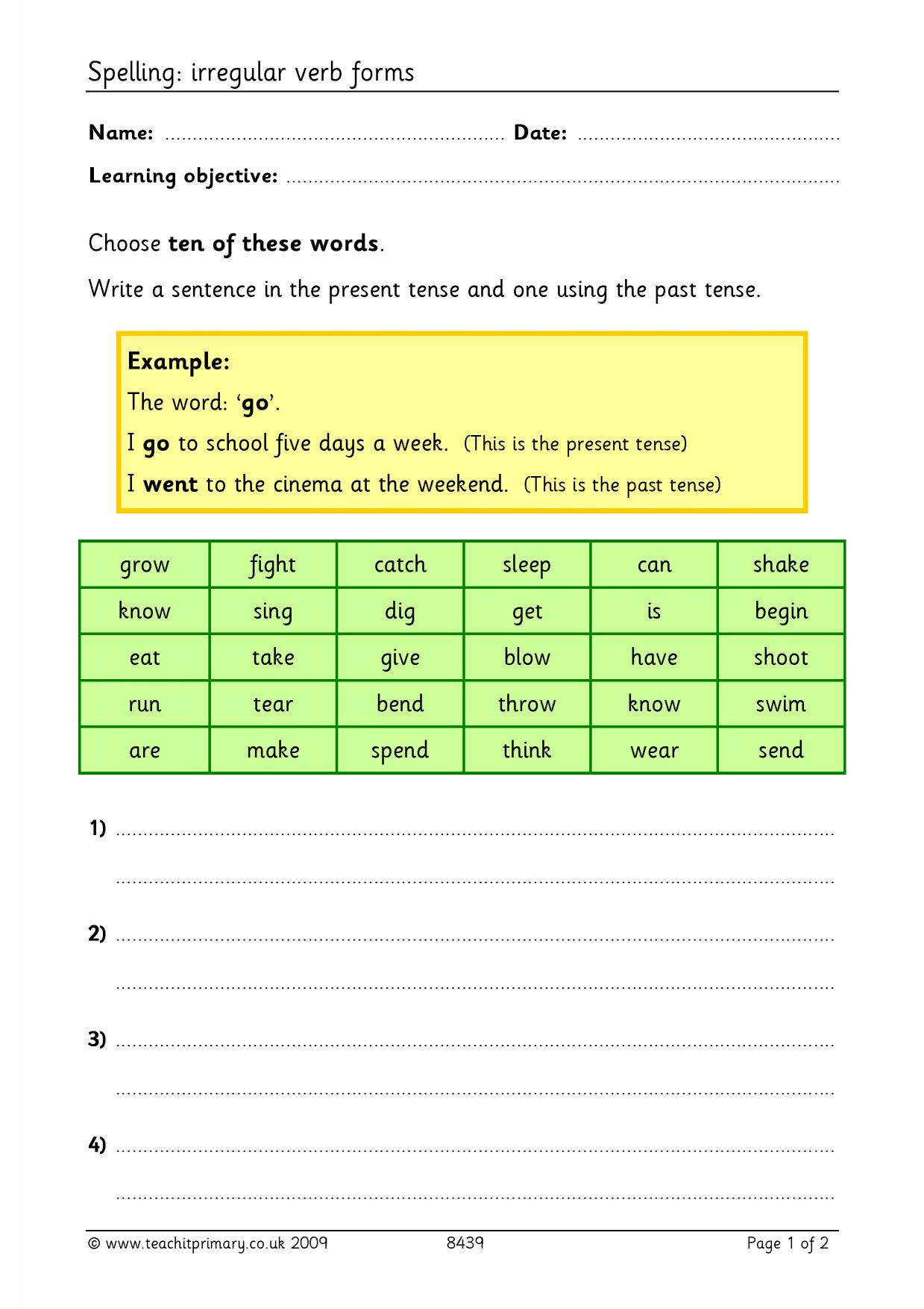 verb forms of begin