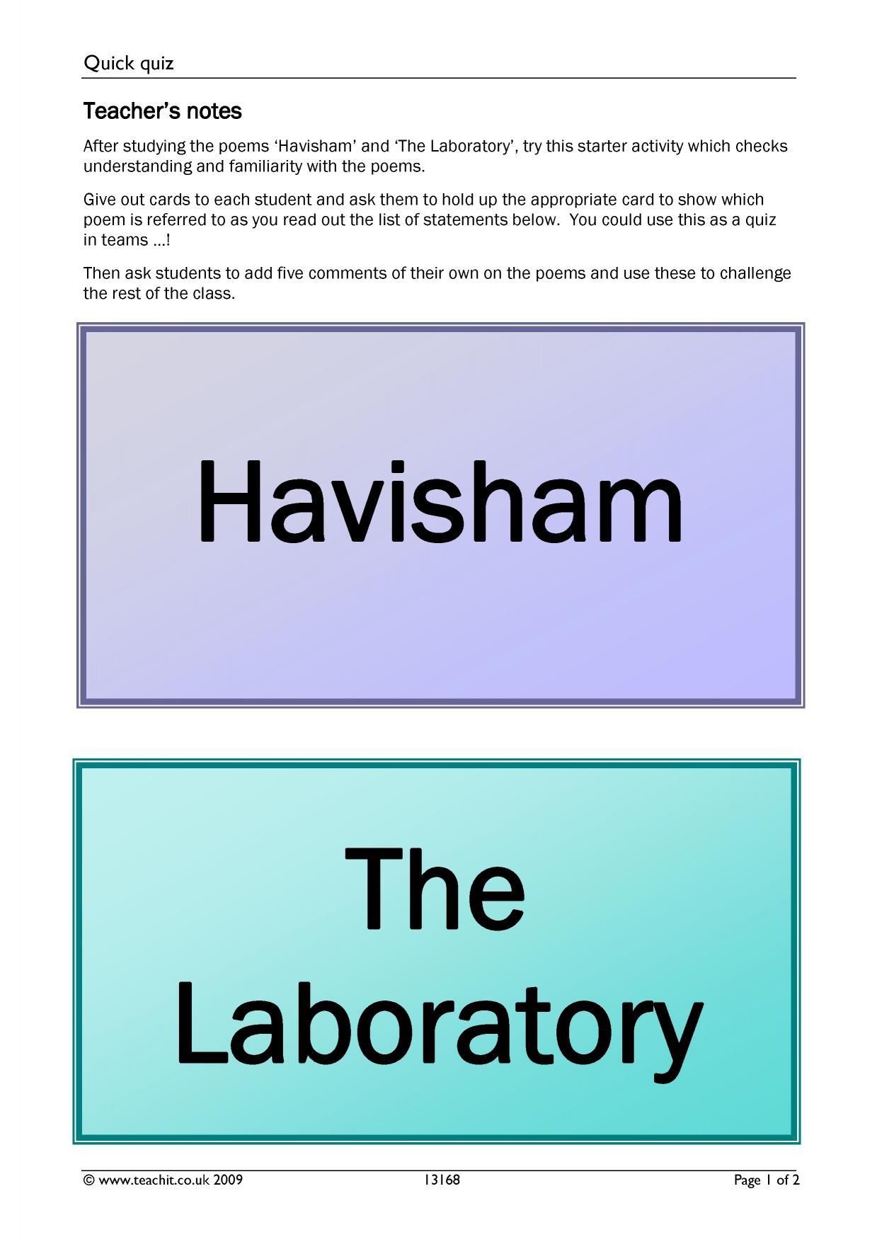 How Love is presented in Carol Ann Duffy's 'Havisham'
