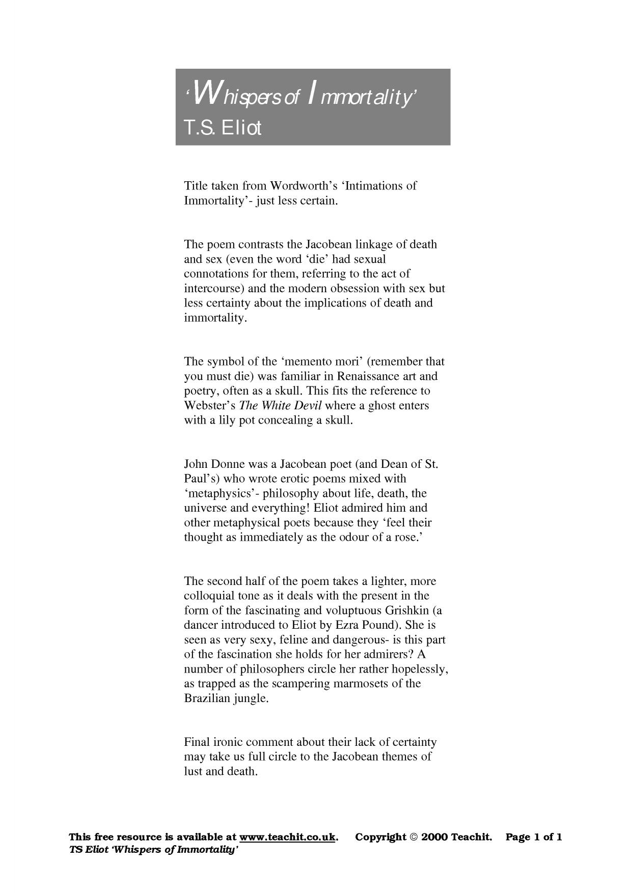 mementos poem pdf