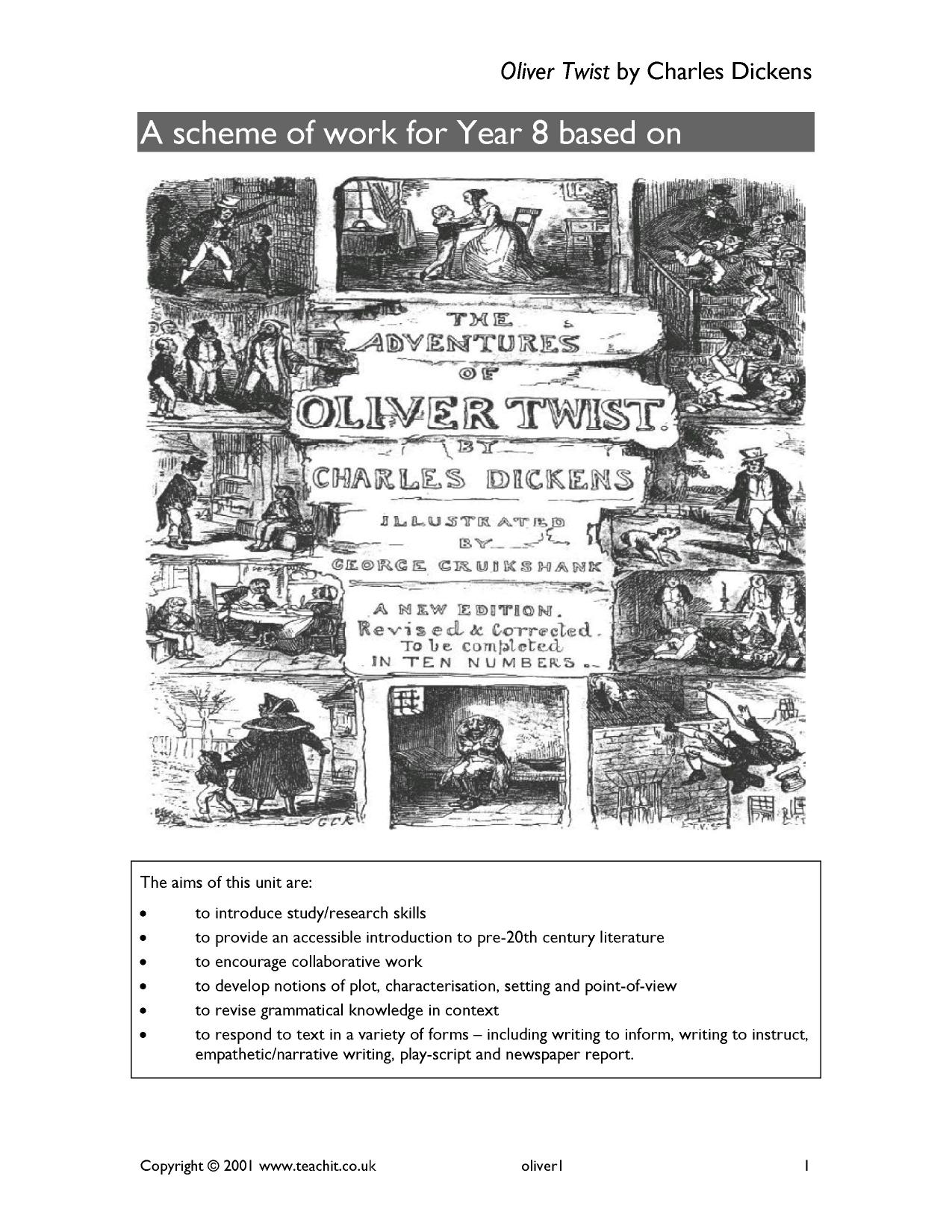 advantages of the oliver twist resource as a teaching design Resources resources home early years / pre-k and kindergarten primary / elementary middle school secondary / high school whole school special educational needs tes teach blog store store home elements magazine community community home latest posts search forums education news teaching overseas us education news.