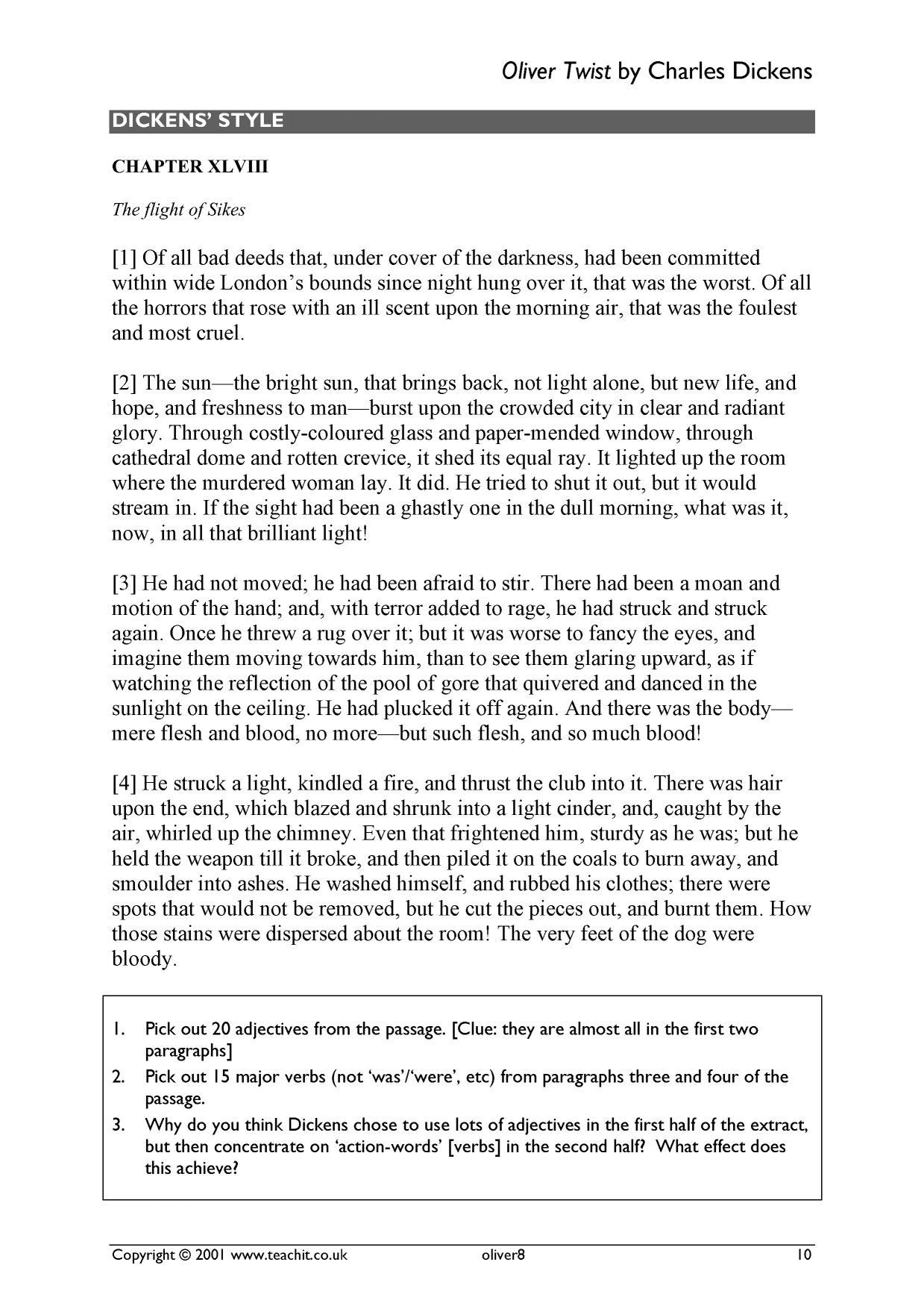 essays on oliver twist Stuck writing a oliver twist essay we have many oliver twist example essays that answers many essay questions in oliver twist.