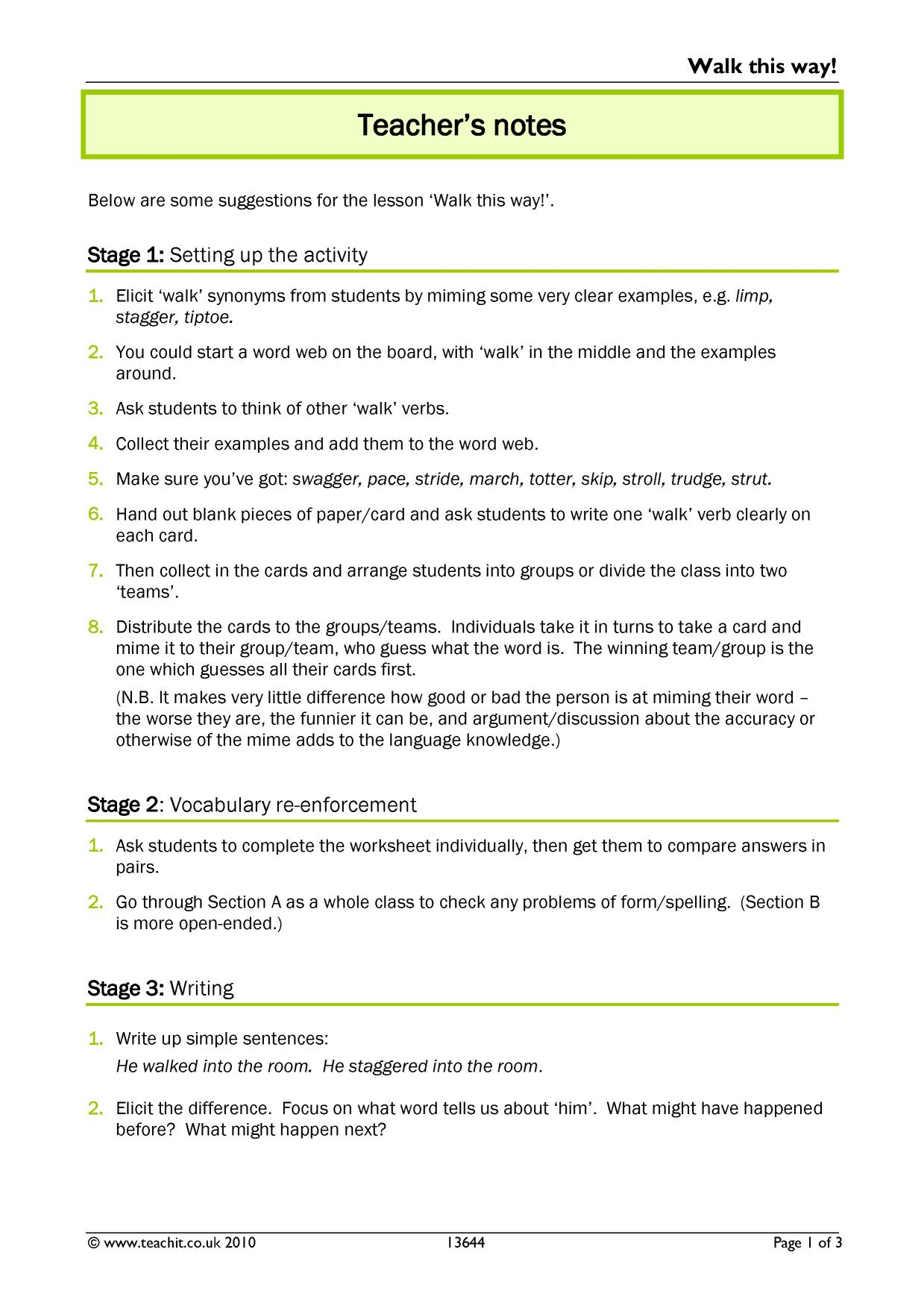 KS3 Dictionary skills – Using a Thesaurus Worksheet
