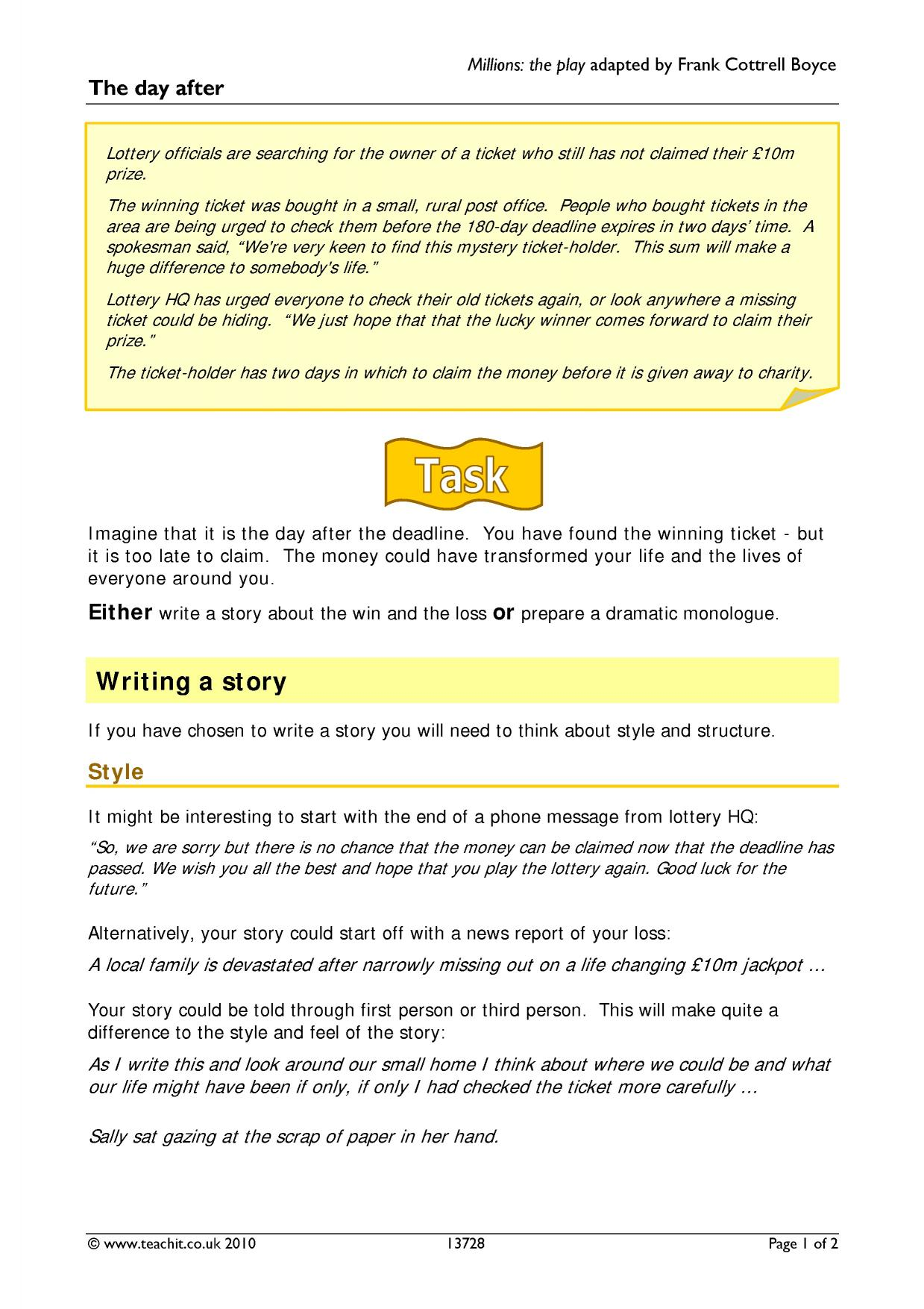 story openings - search results - Teachit English