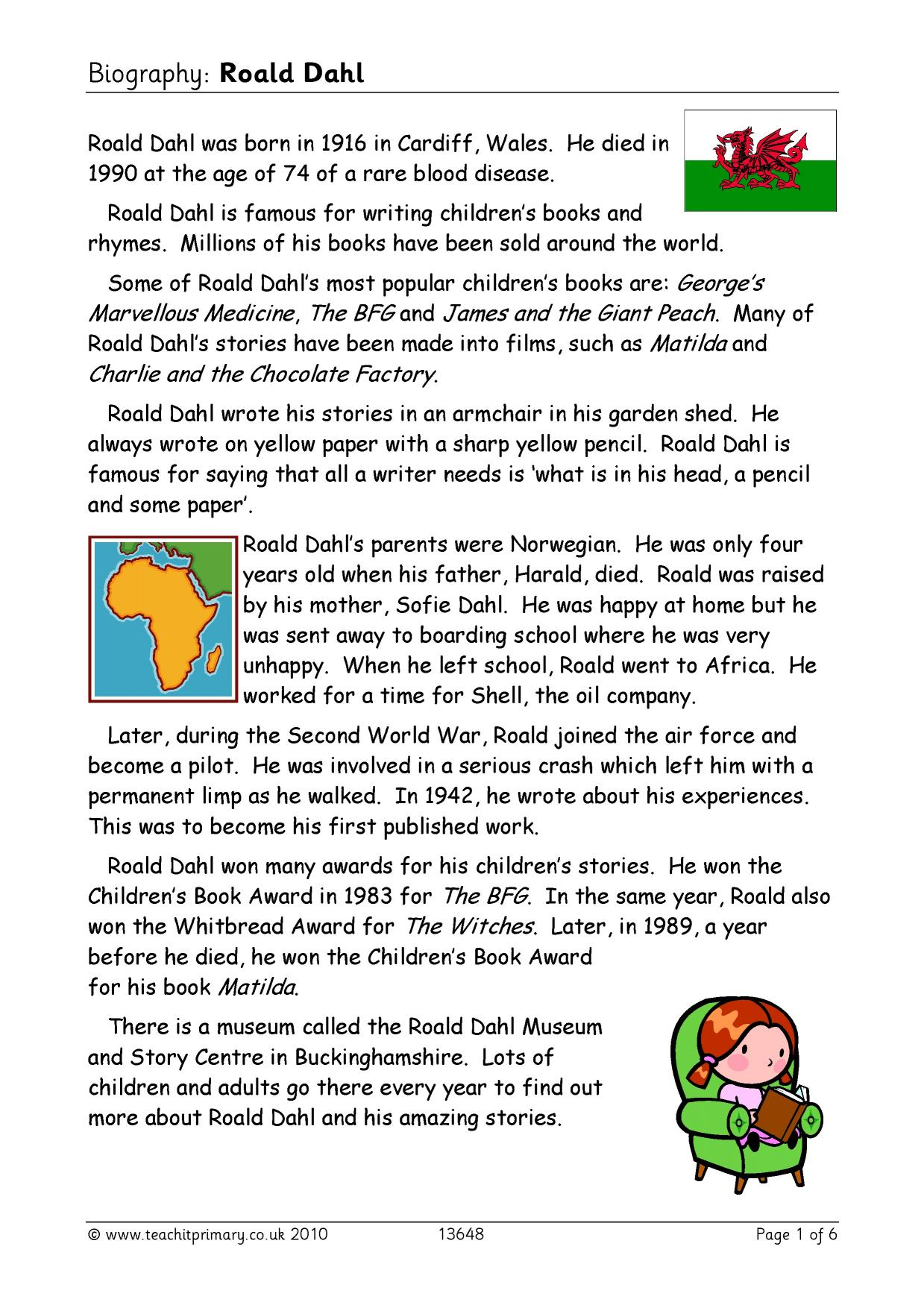 literacy biography Template of smartboard links and activities for year 6 literacy autobiography & biography context linked to the victorians add your own differentiation and activities.
