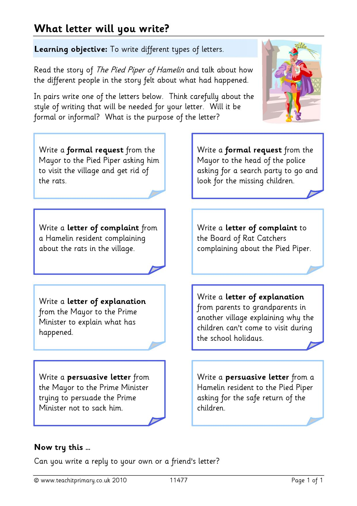 letter writing ks 2 preview