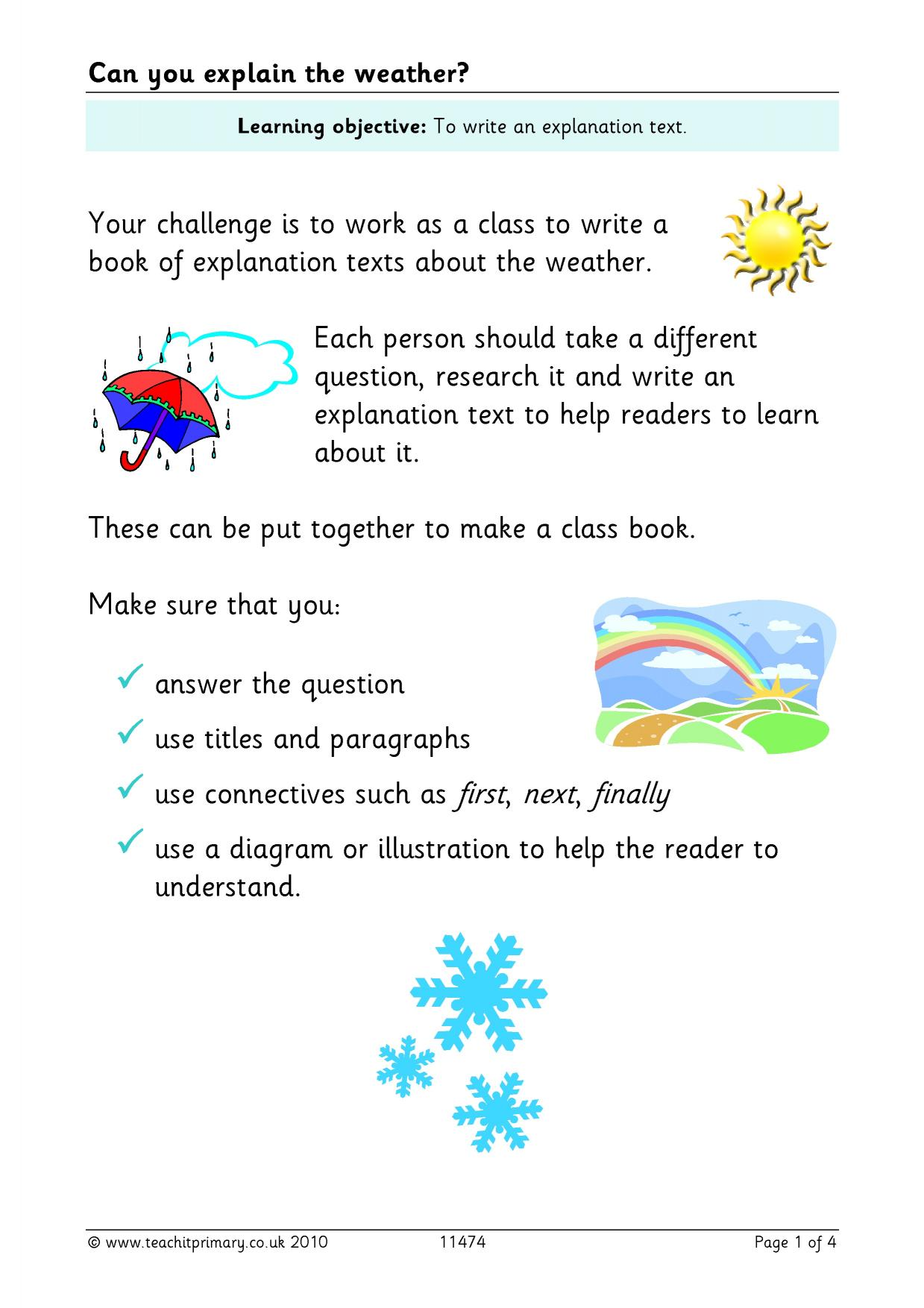 how to write instructions ks2