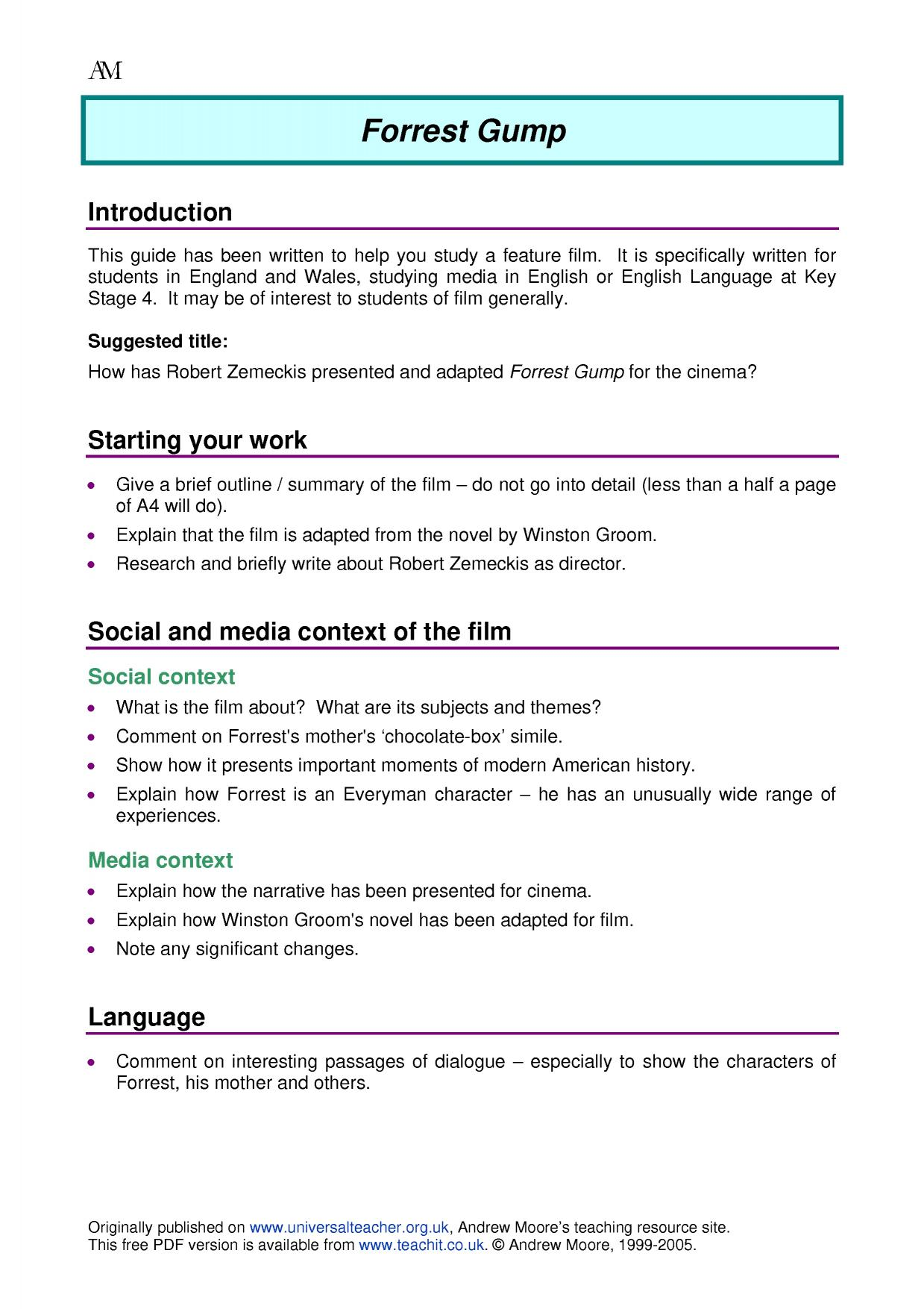 Film Search Results Teachit English
