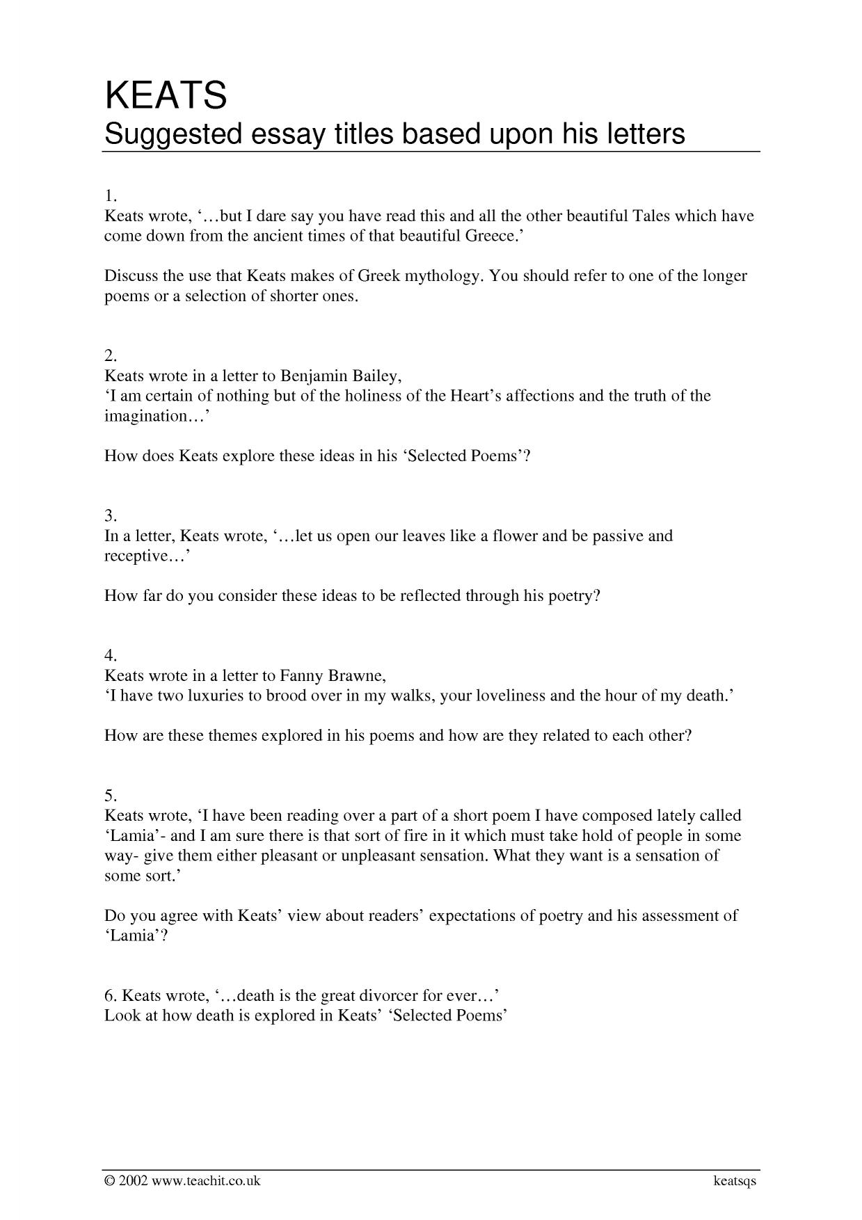 Ode grecian urn essay questions   Homework Academic Writing Service Close Reading of a Poem  To Autum  by John Keats   Essay Example