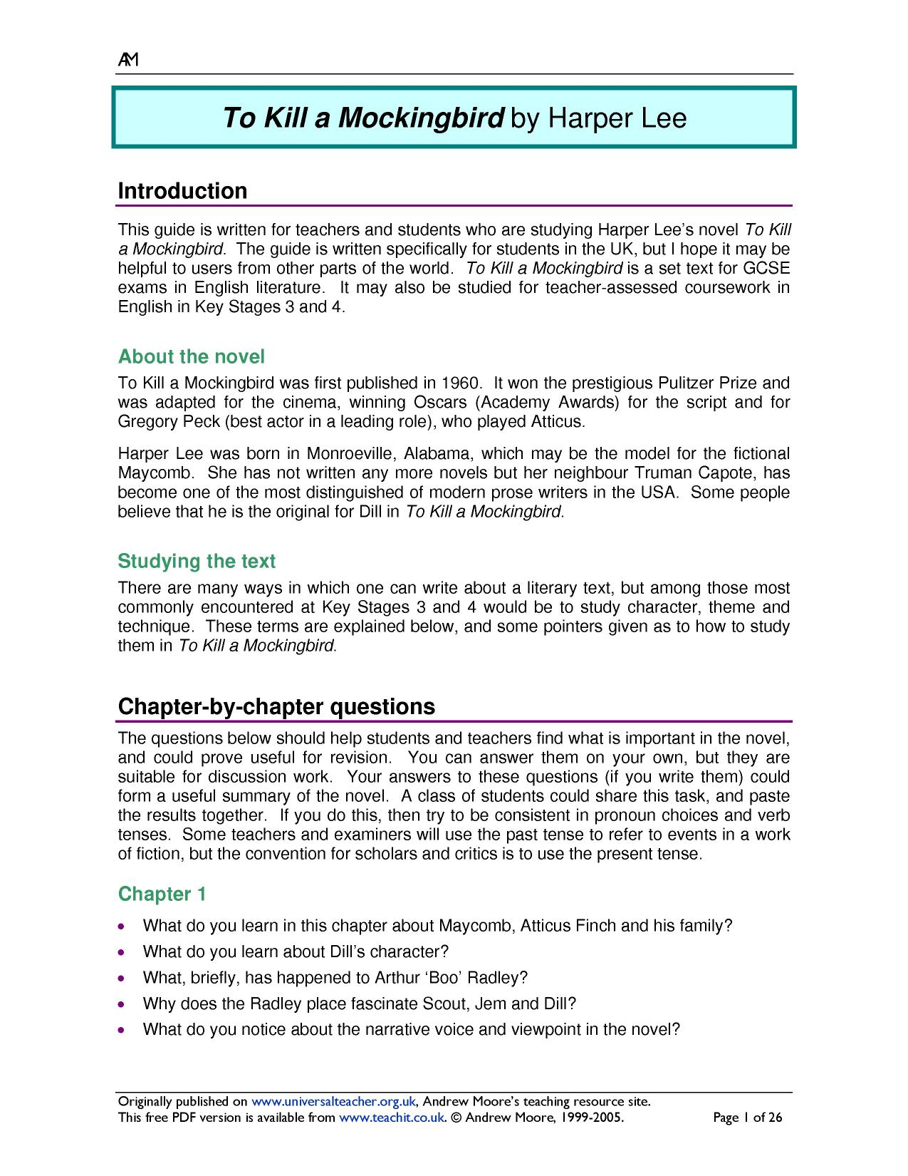 KS4 To Kill a Mockingbird by Harper Lee – To Kill a Mockingbird Worksheets