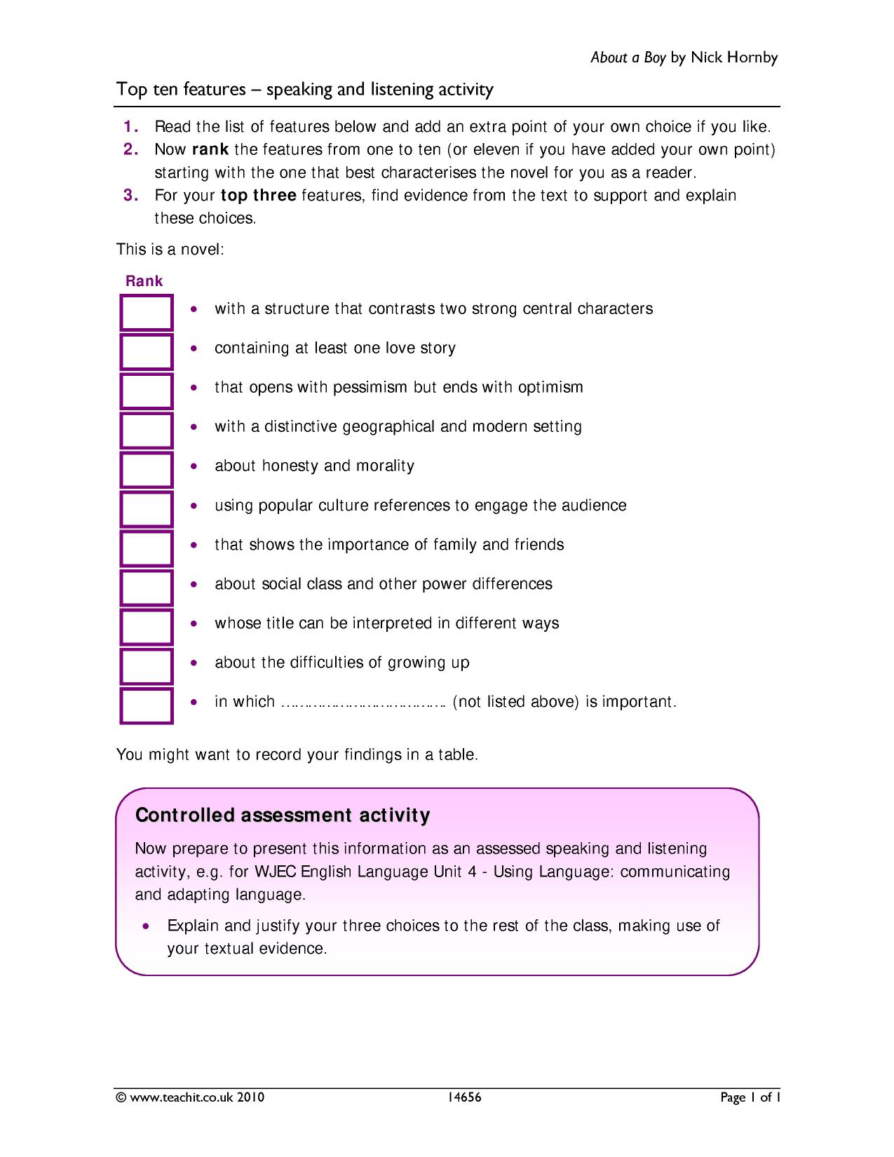Ready-made Sequencing activities - Teachit English