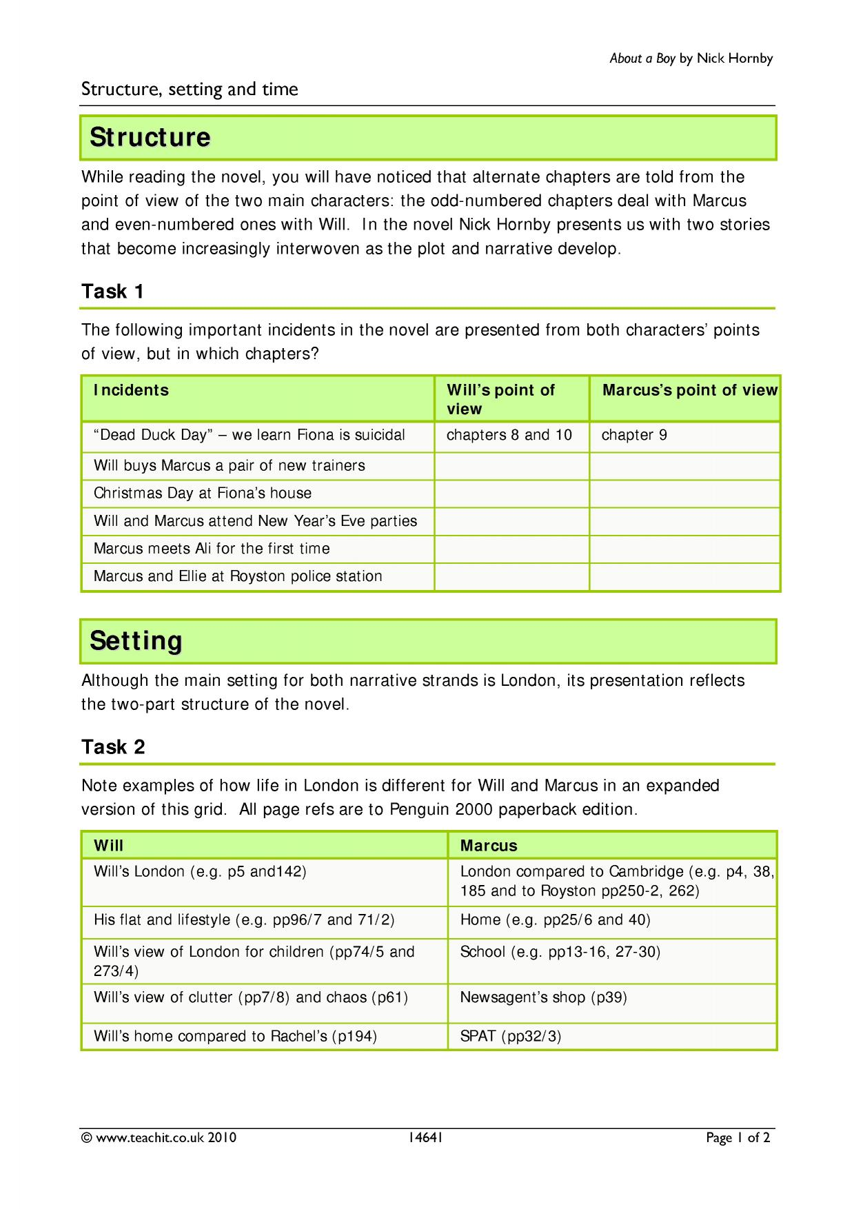 about a boy text analysis Regents exam in ela (common core) rating guide june '15 [54] the state education department / the university of the state of new york / albany, ny 12234 new york state regents examination in english language arts (common core) part 3 rubric text analysis: exposition.