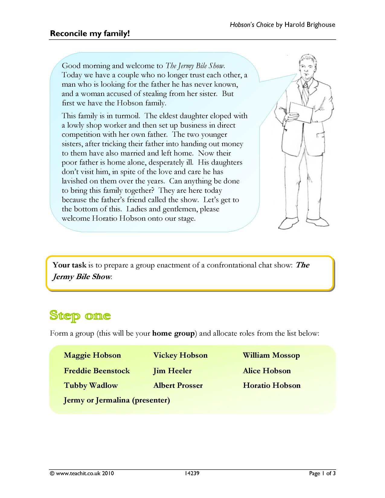 hobsons choice by harold brighouse essay Hobsons choice coursework – 279577  buy essay hobsons choice coursework – br grad view  s choice by harold brighouse.