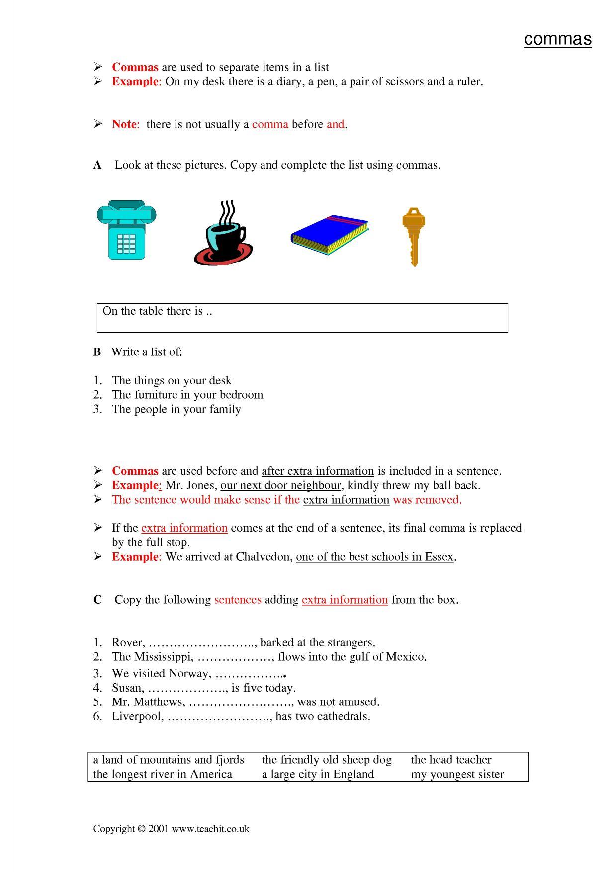 Ks3 Grammar And Vocabulary Punctuation Teachit English